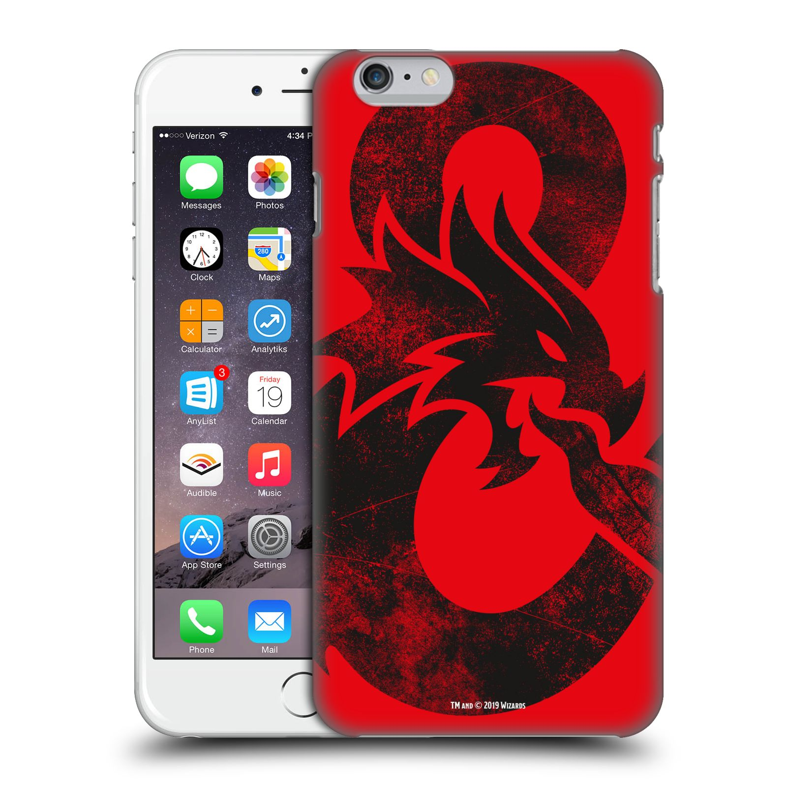Pouzdro na mobil Apple Iphone 6/6S PLUS - HEAD CASE - Dungeons and Dragons - Chrlící drak