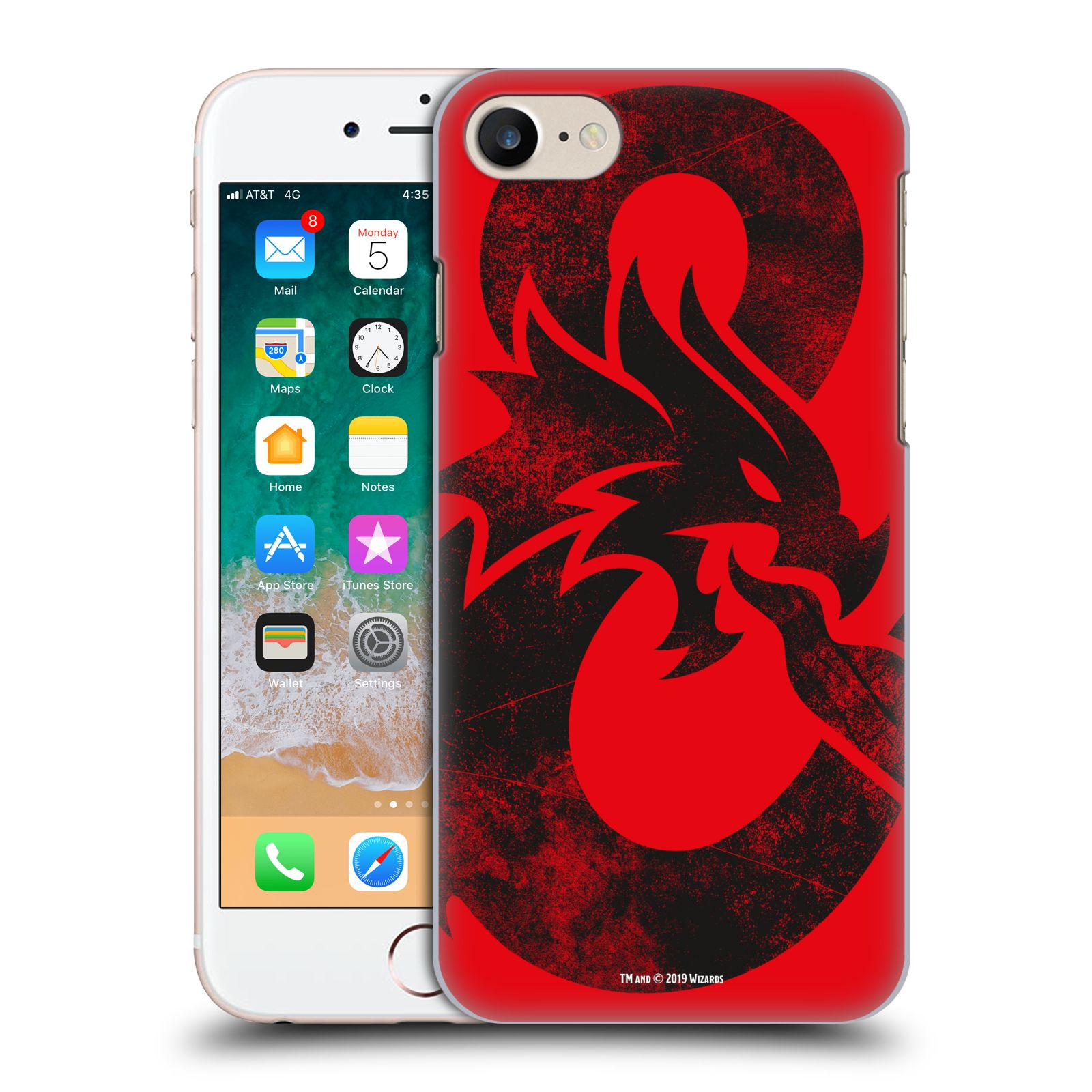 Pouzdro na mobil Apple Iphone 7/8 - HEAD CASE - Dungeons and Dragons - Chrlící drak
