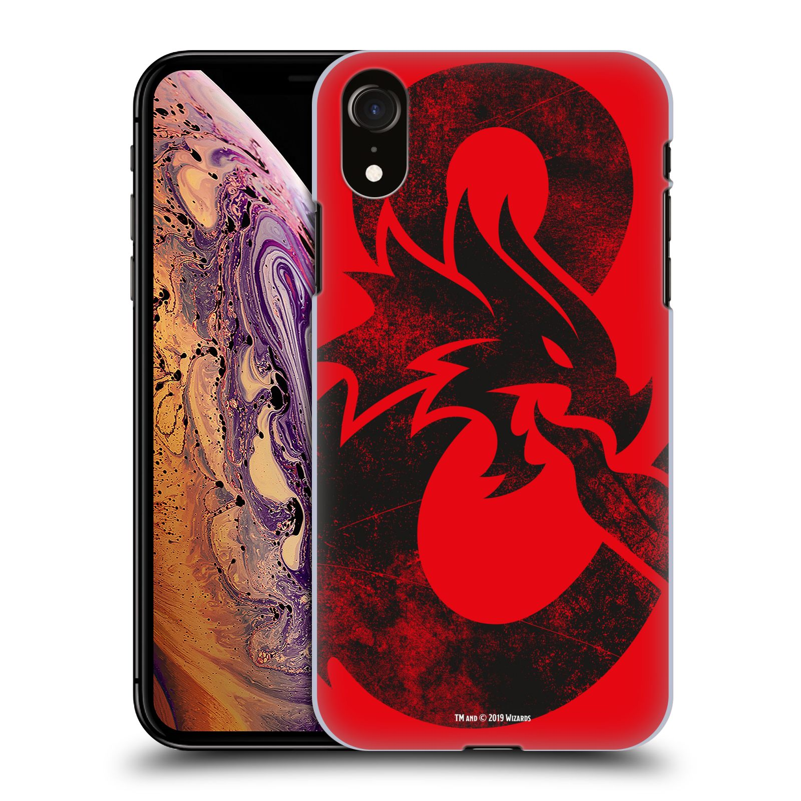 Pouzdro na mobil Apple Iphone XR - HEAD CASE - Dungeons and Dragons - Chrlící drak