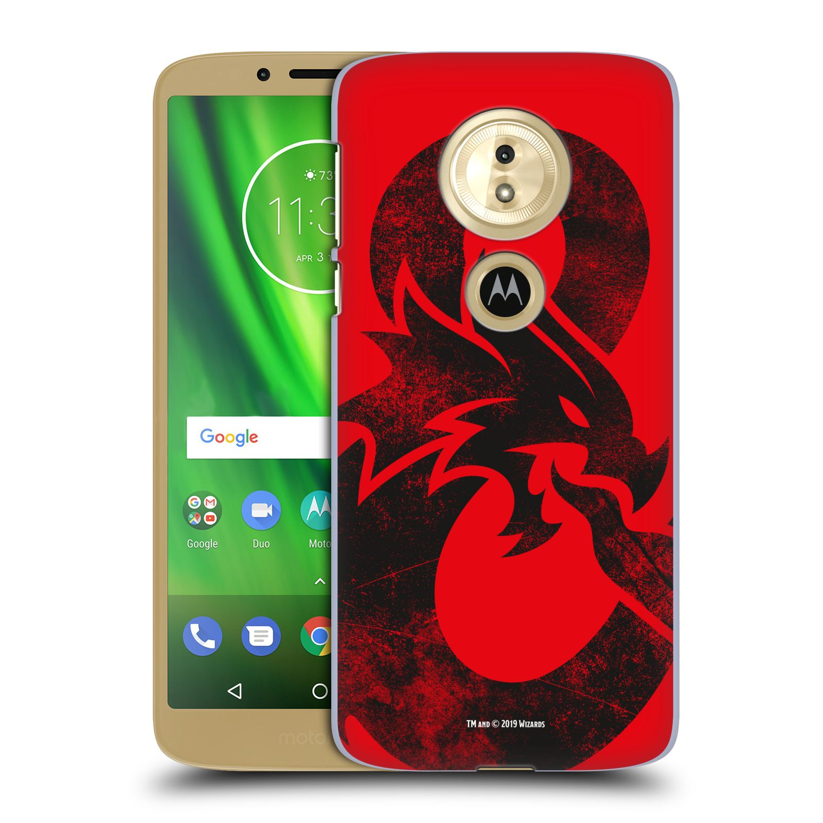 Pouzdro na mobil Motorola Moto E5 - HEAD CASE - Dungeons and Dragons - Chrlící drak