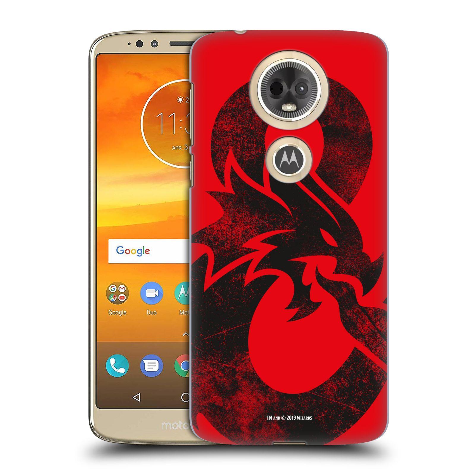 Pouzdro na mobil Motorola Moto E5 PLUS - HEAD CASE - Dungeons and Dragons - Chrlící drak