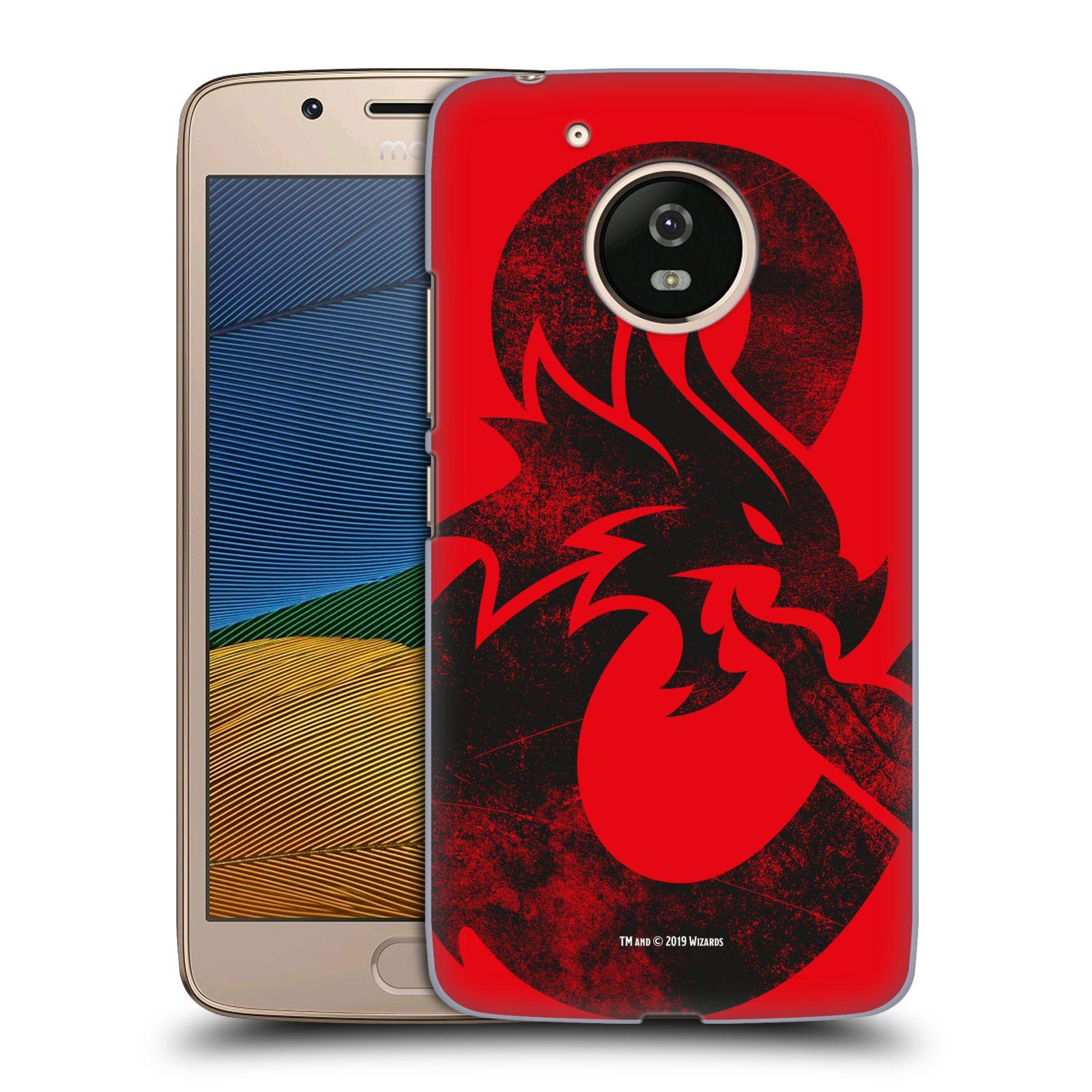 Pouzdro na mobil Lenovo Moto G5 - HEAD CASE - Dungeons and Dragons - Chrlící drak