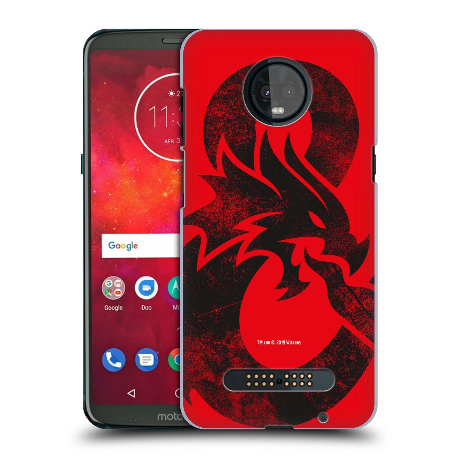 Pouzdro na mobil Motorola Moto Z3 PLAY - HEAD CASE - Dungeons and Dragons - Chrlící drak