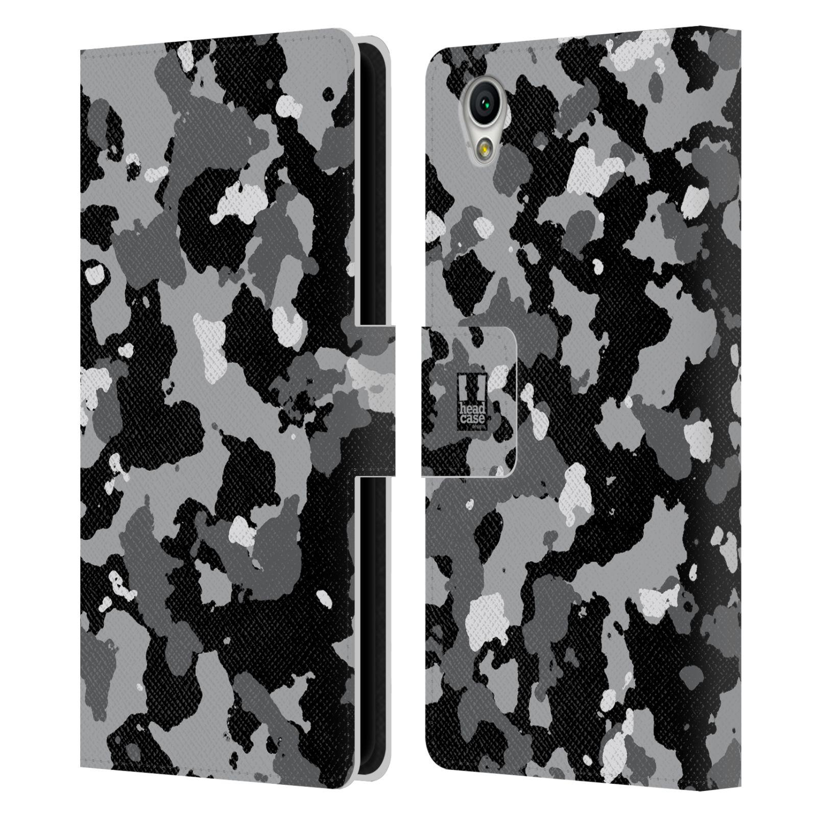 Pouzdro na mobil Sony Xperia L1 - Head Case - kamuflaž černá a šedá