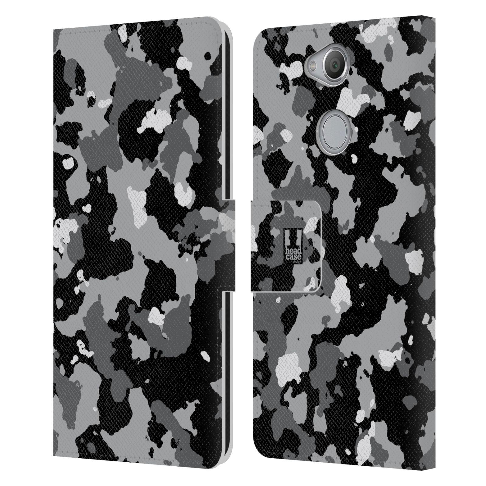 Pouzdro na mobil Sony Xperia XA2 - Head Case - kamuflaž černá a šedá