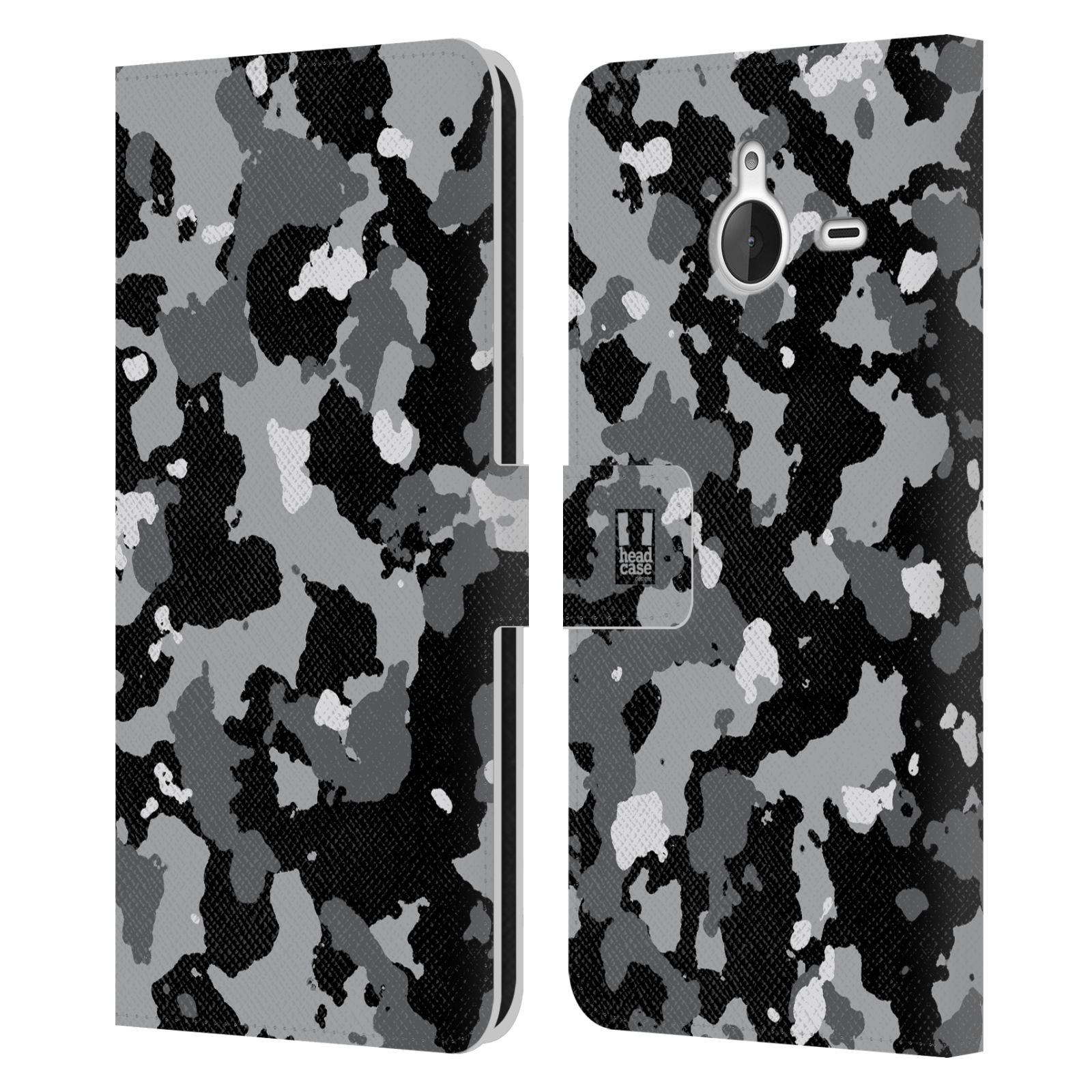 Pouzdro na mobil Nokia Lumia 640 XL - Head Case - kamuflaž černá a šedá