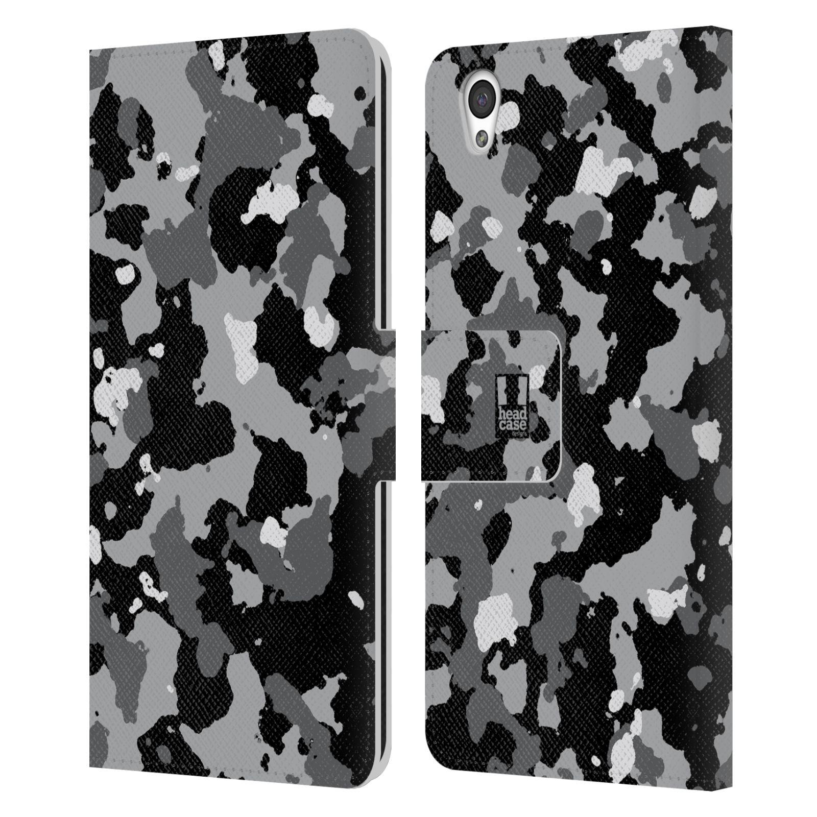 Pouzdro na mobil OnePlus X - Head Case - kamuflaž černá a šedá