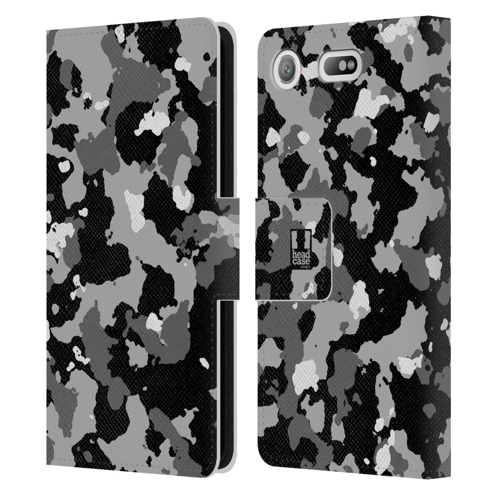 Pouzdro na mobil Sony Xperia XZ1 Compact - Head Case - kamuflaž černá a šedá