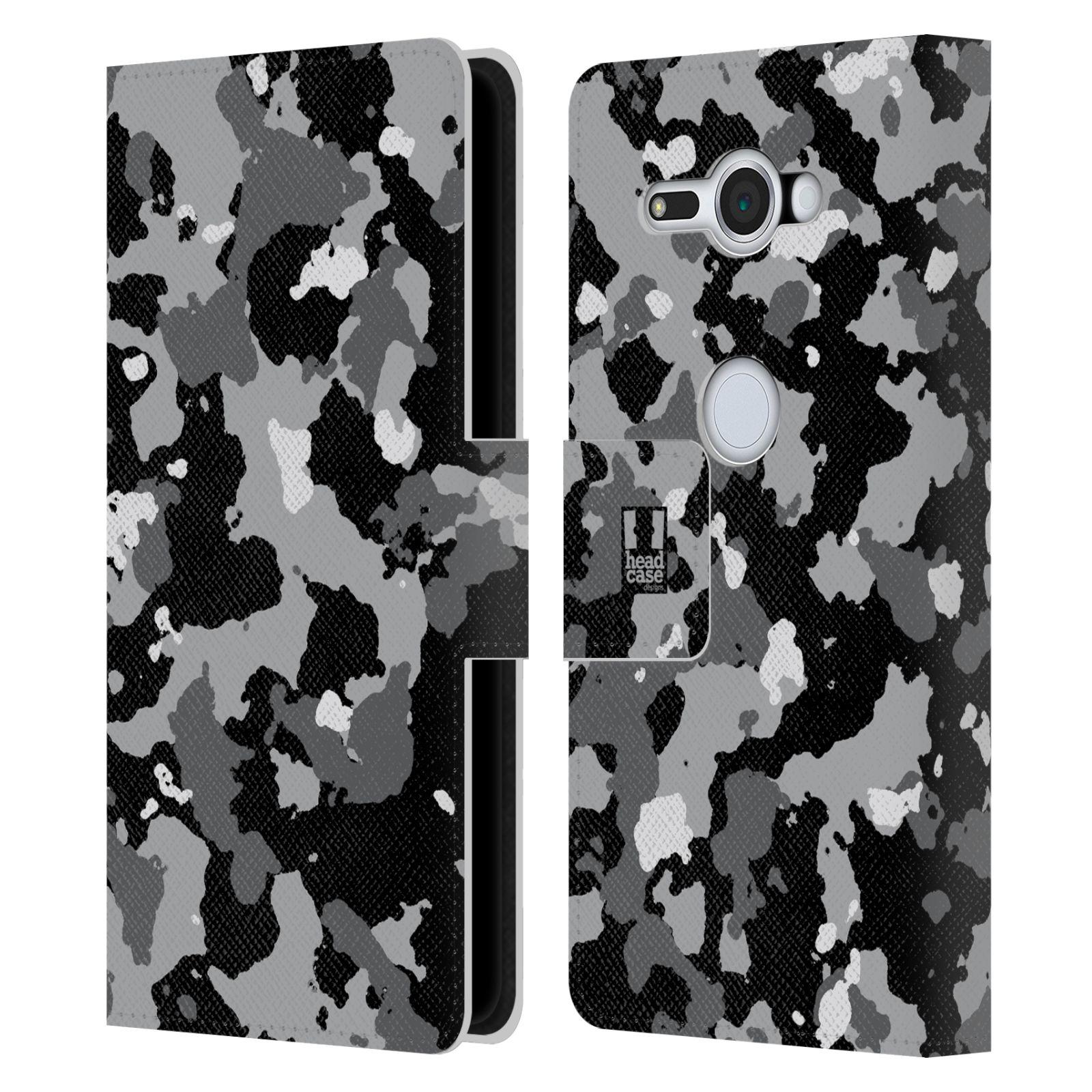 Pouzdro na mobil Sony Xperia XZ2 Compact - Head Case - kamuflaž černá a šedá