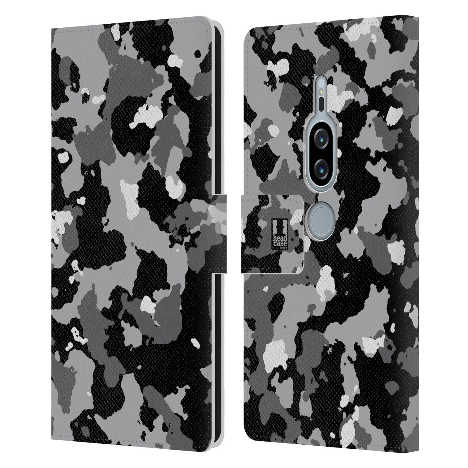 Pouzdro na mobil Sony Xperia XZ2 Premium - Head Case - kamuflaž černá a šedá