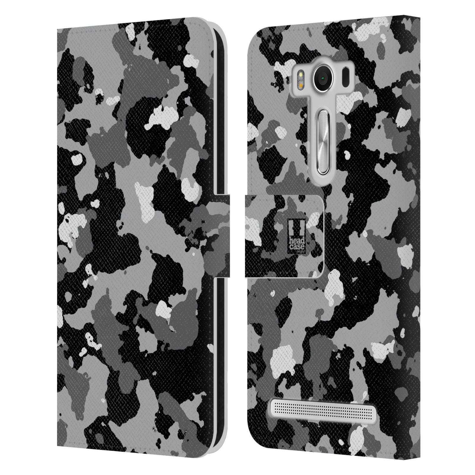 Pouzdro na mobil Asus Zenfone 2 Laser ZE500KL - Head Case - kamuflaž černá a šedá