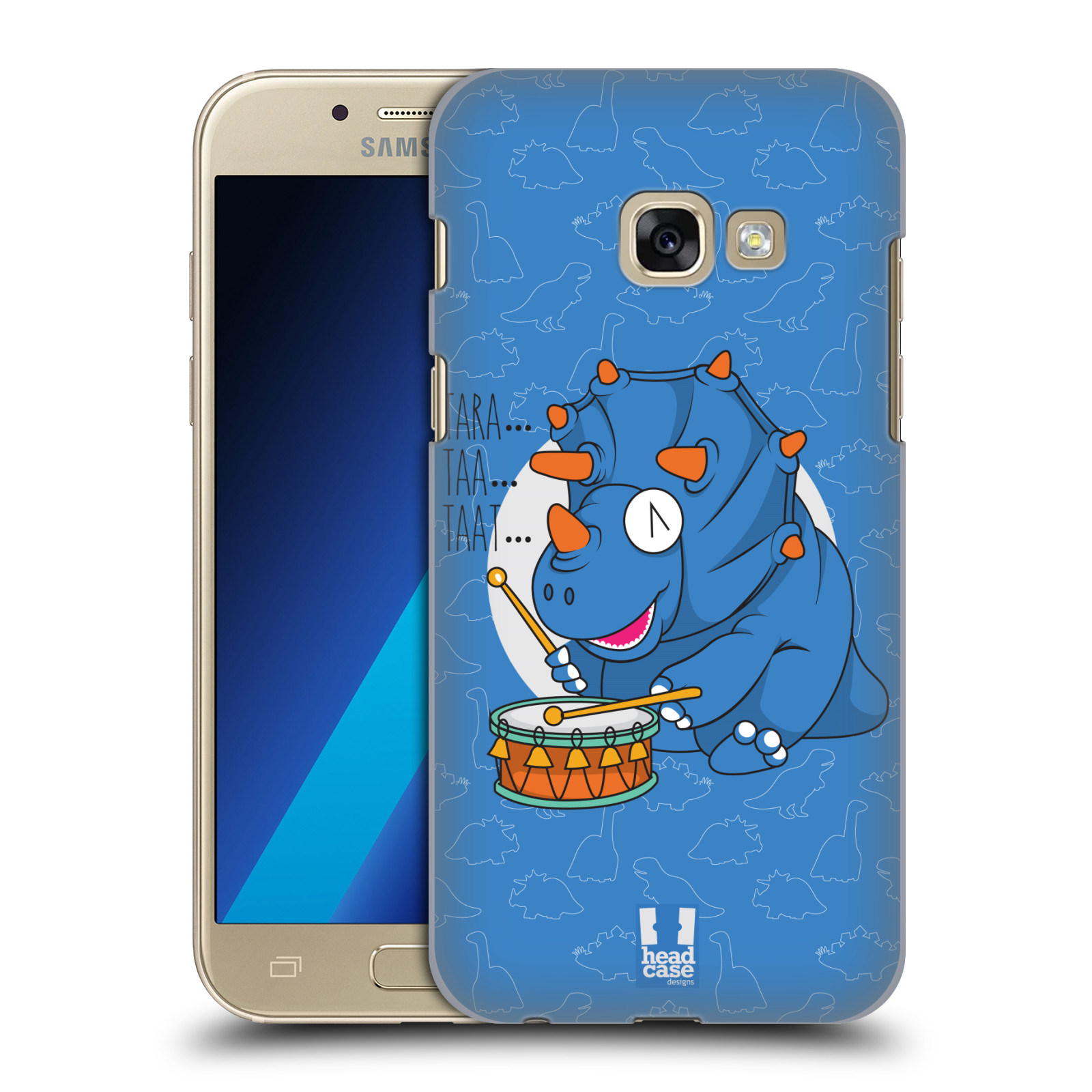 HEAD-CASE-DESIGNS-DINO-MUSIKEROS-HARD-BACK-CASE-FOR-SAMSUNG-GALAXY-A3-2017
