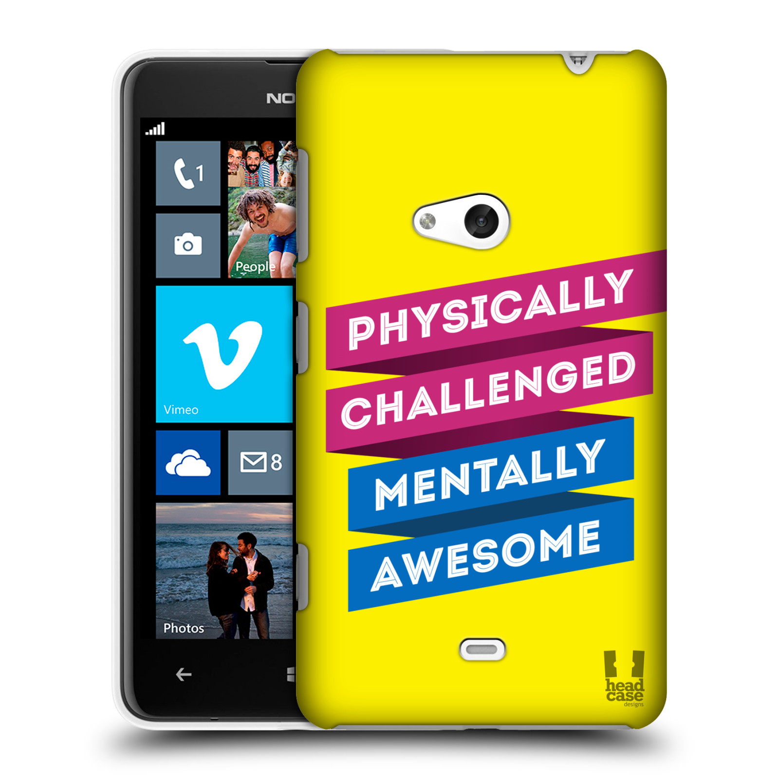 HEAD CASE DESIGNS BEYOND THE DISABILITY CASE COVER FOR NOKIA LUMIA 625