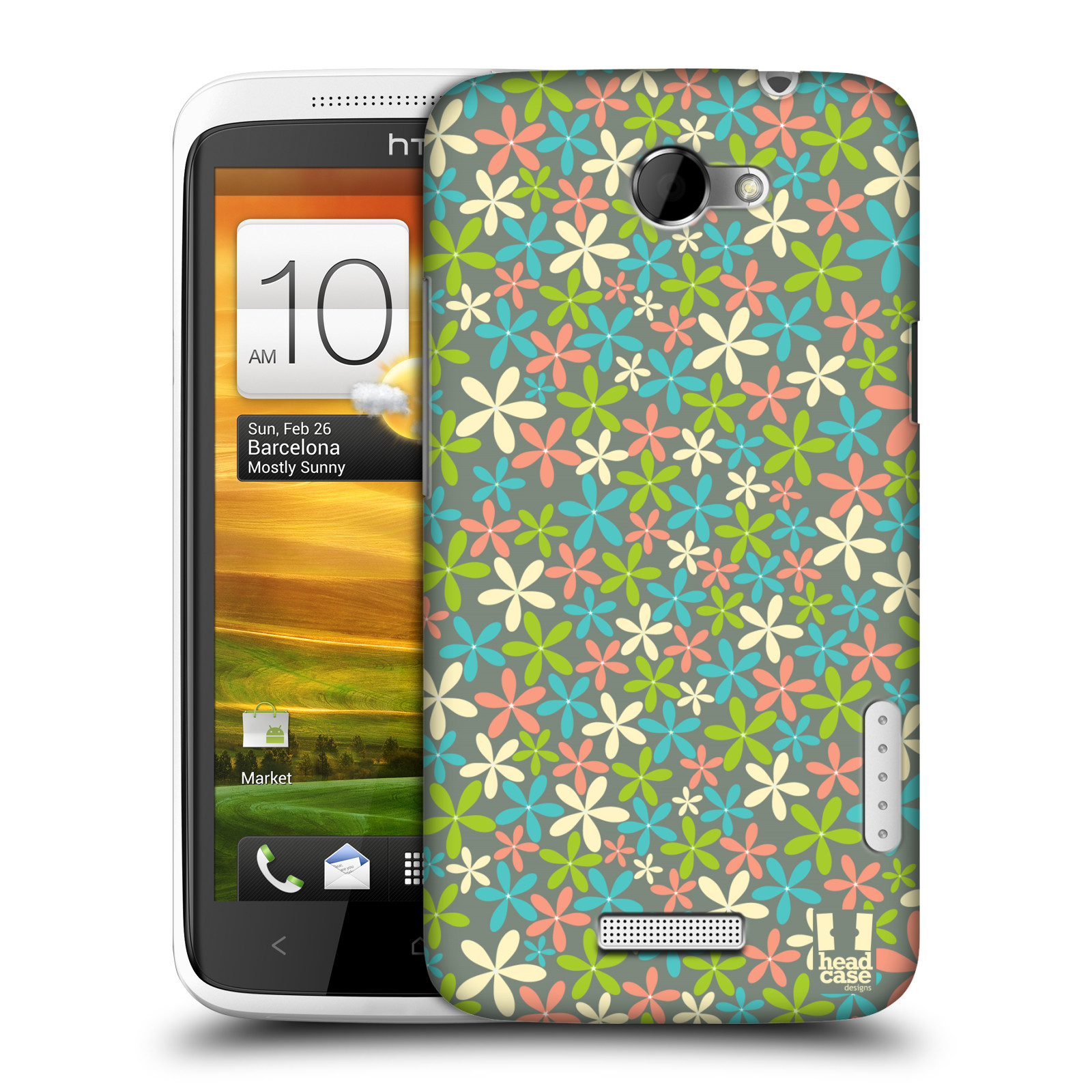 HEAD CASE DESIGNS DITSY FLORAL PATTERN CASE COVER FOR HTC ONE X
