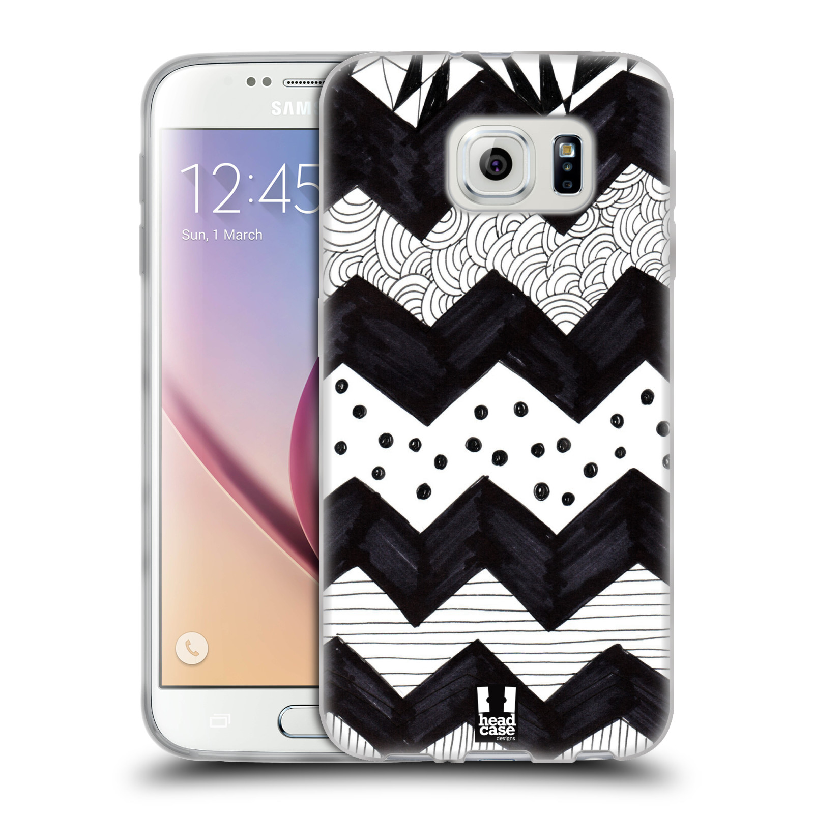 head case black and white doodle patterns gel case for samsung galaxy s6 duos ebay. Black Bedroom Furniture Sets. Home Design Ideas