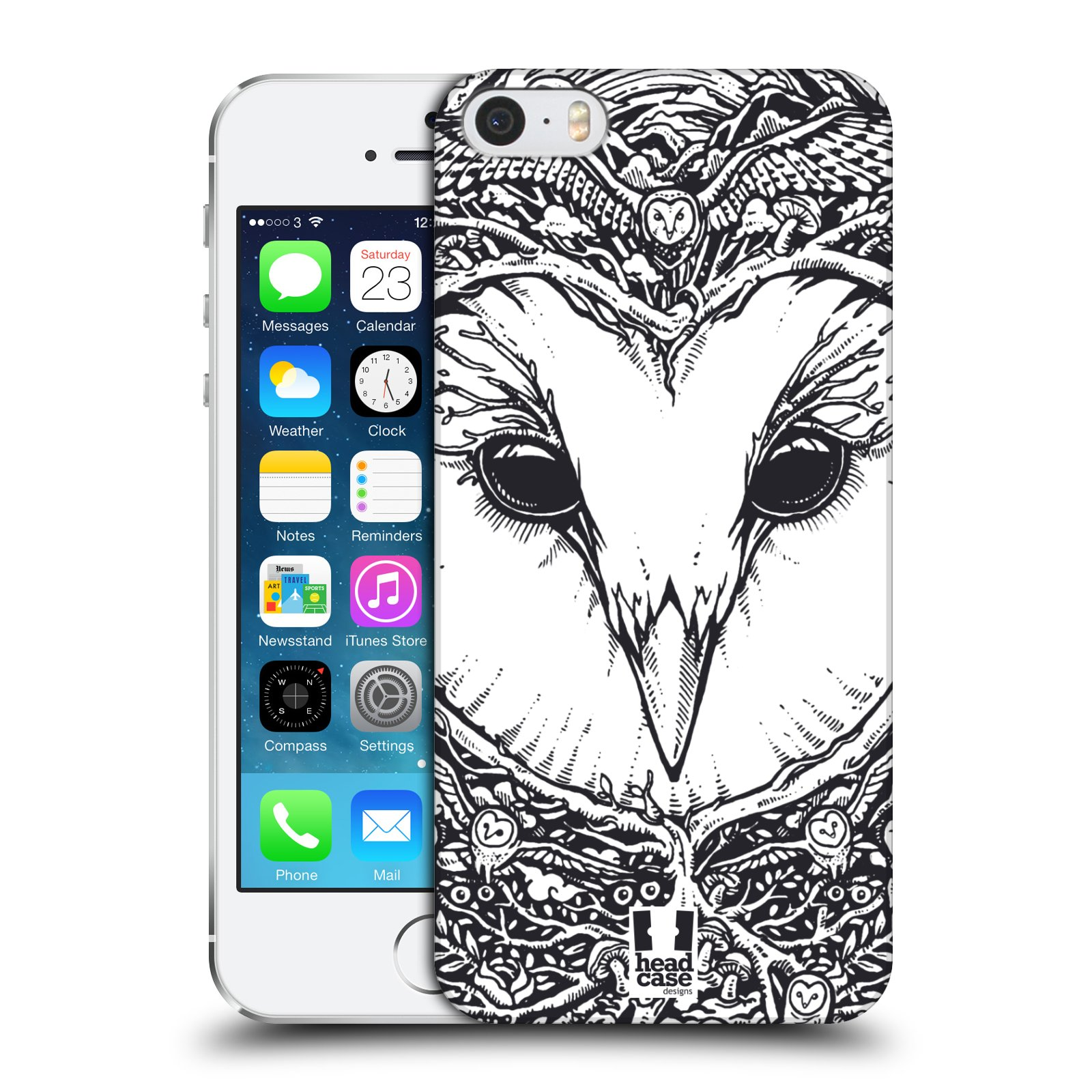 HEAD CASE DESIGNS DOODLE ANIMAL FACES CASE COVER FOR APPLE iPHONE 5