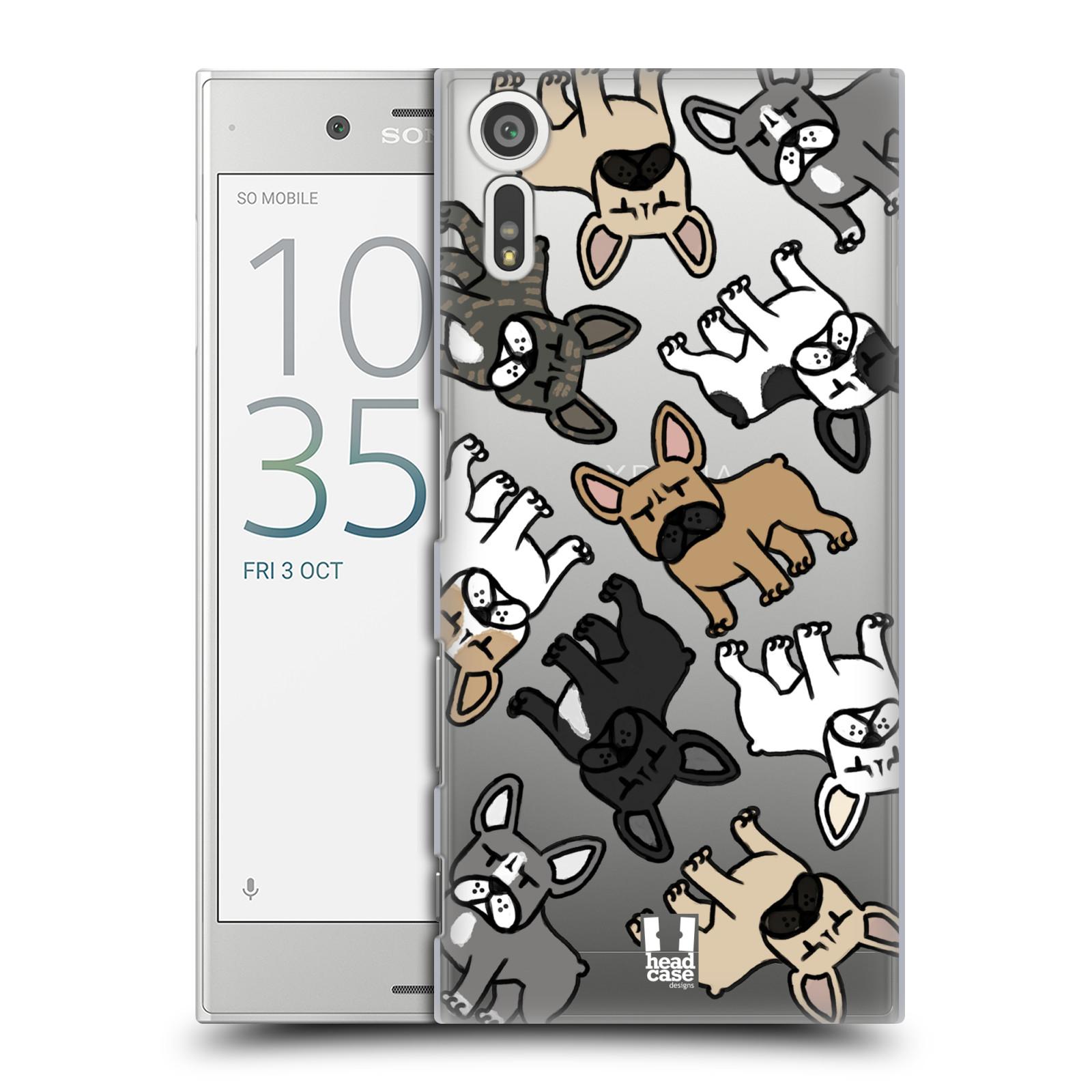 HEAD CASE plastový obal na mobil Sony Xperia XZ pejsek francouzský buldog
