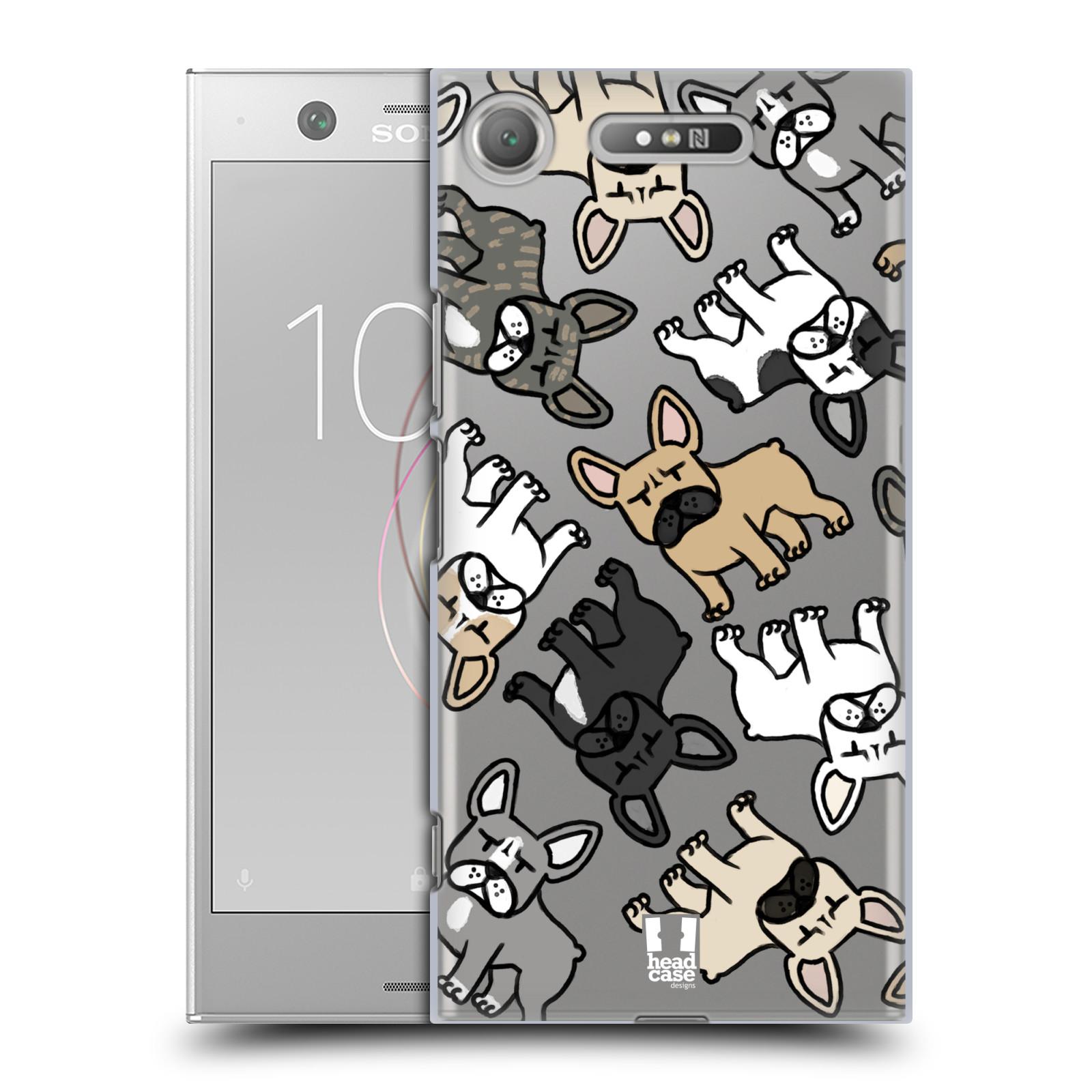 HEAD CASE plastový obal na mobil Sony Xperia XZ1 pejsek francouzský buldog