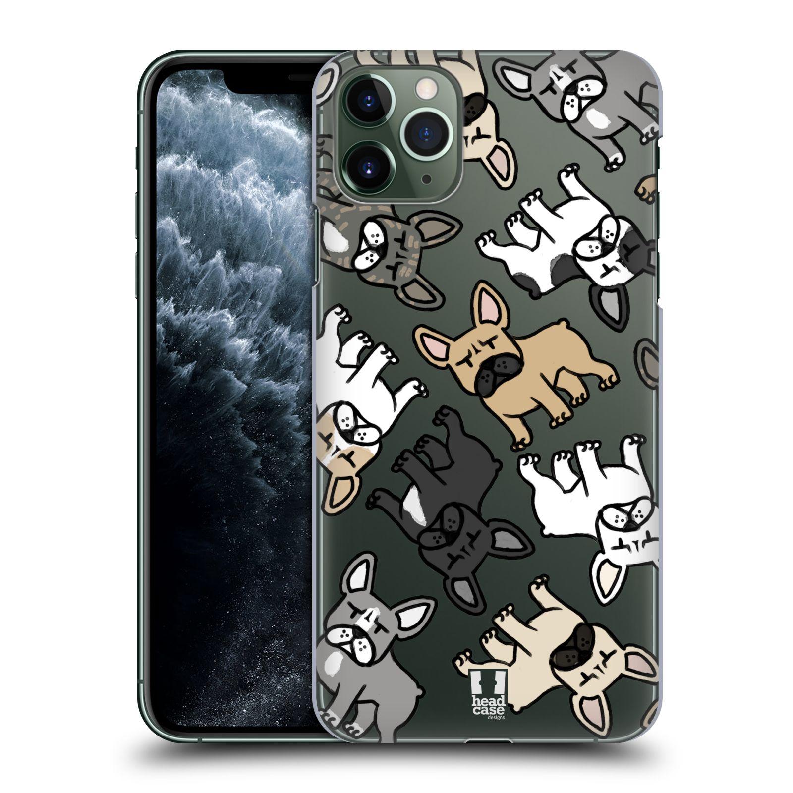 Pouzdro na mobil Apple Iphone 11 PRO MAX - HEAD CASE - pejsek francouzský buldog