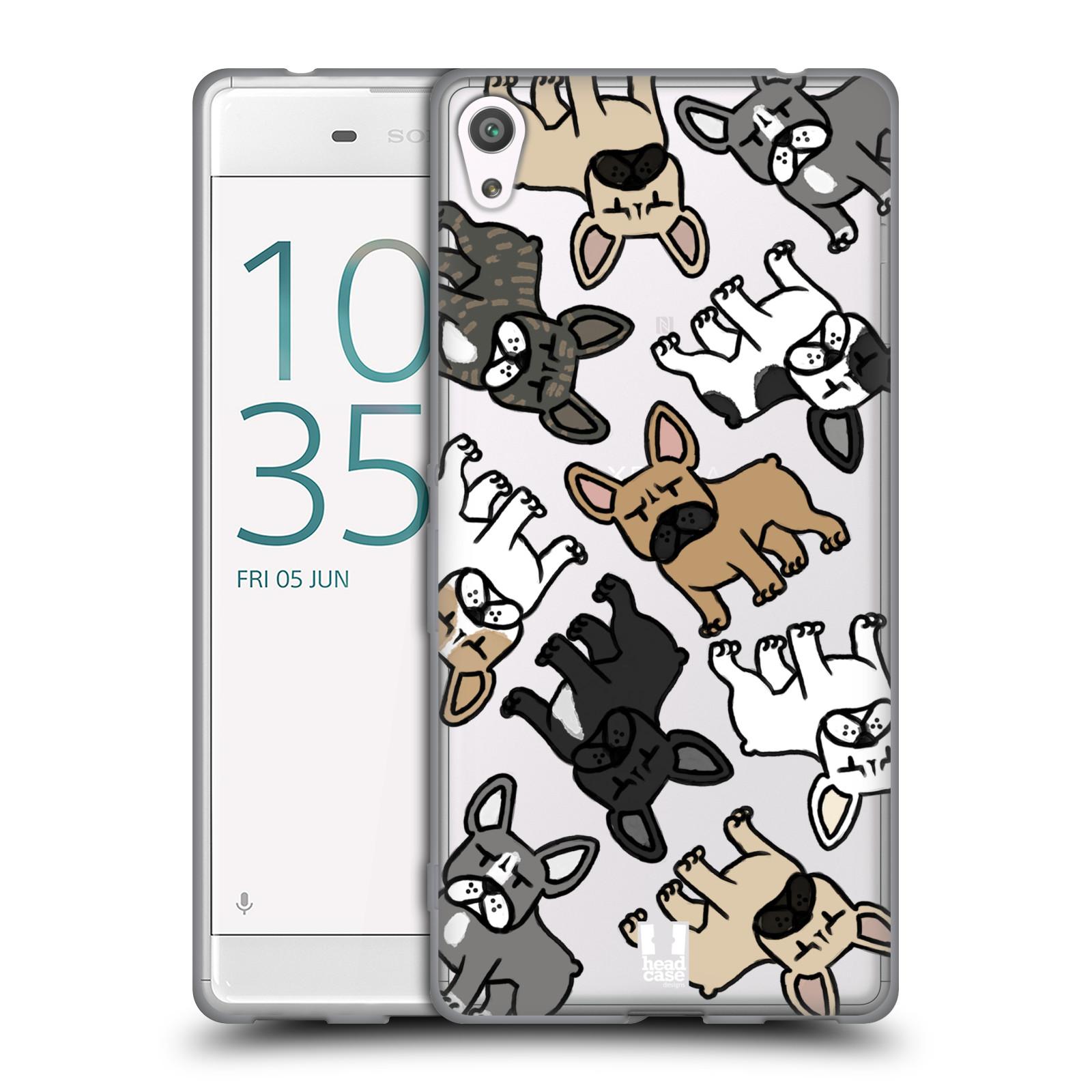 HEAD CASE silikonový obal na mobil Sony Xperia XA ULTRA pejsek francouzský buldog