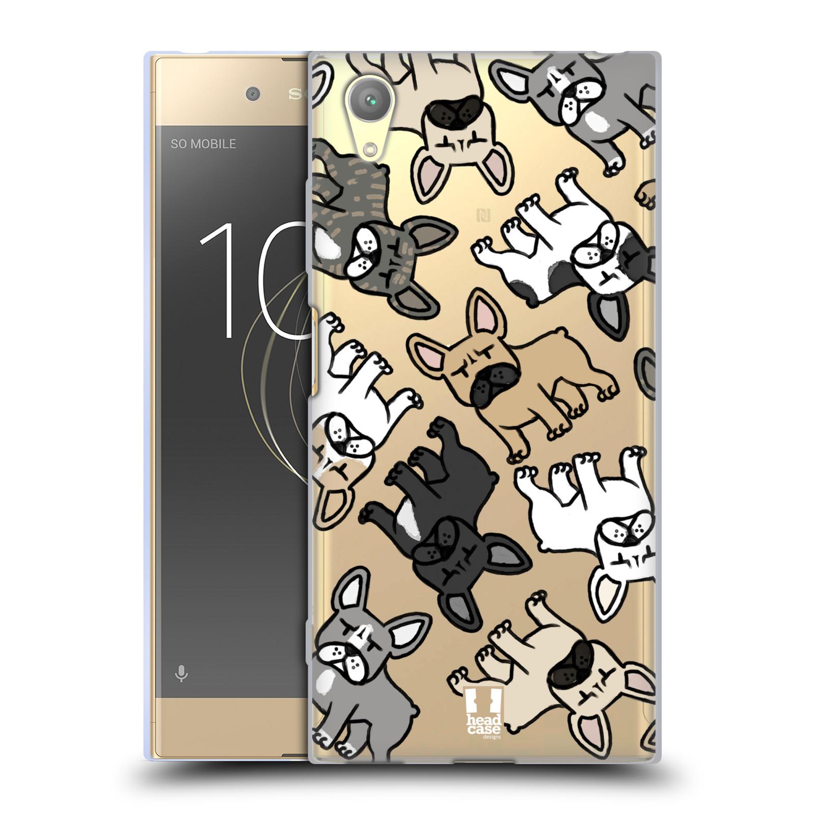 HEAD CASE silikonový obal na mobil Sony Xperia XA1 PLUS pejsek francouzský buldog