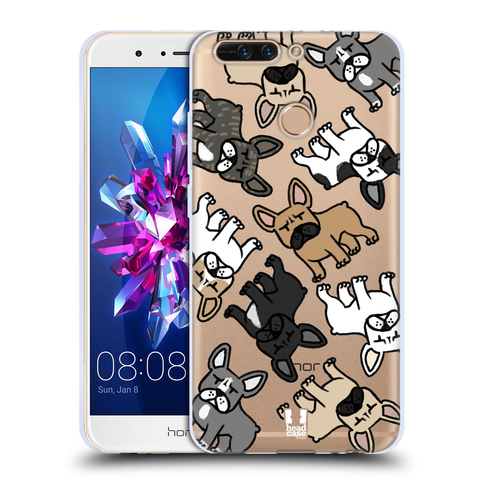 HEAD CASE silikonový obal na mobil Huawei HONOR 8 PRO / Honor 8 PRO DUAL SIM pejsek francouzský buldog