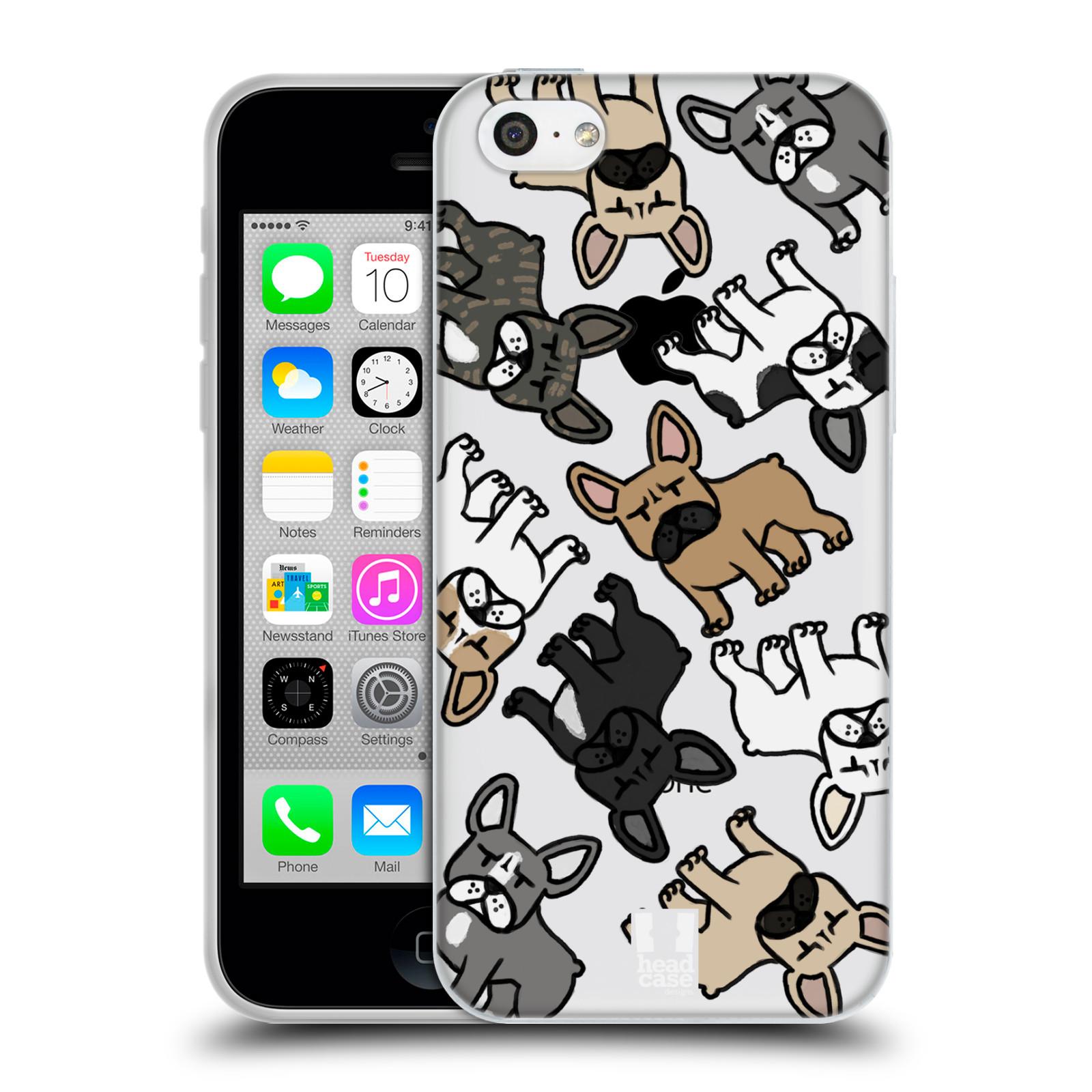 HEAD CASE silikonový obal na mobil Apple Iphone 5C pejsek francouzský buldog