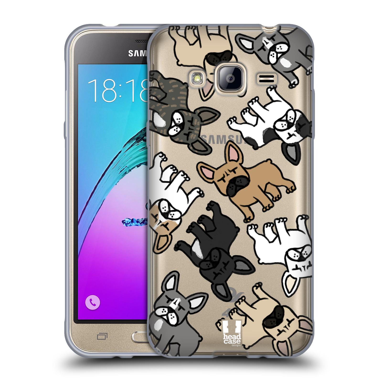 HEAD CASE silikonový obal na mobil Samsung Galaxy J3, J3 2016 pejsek francouzský buldog