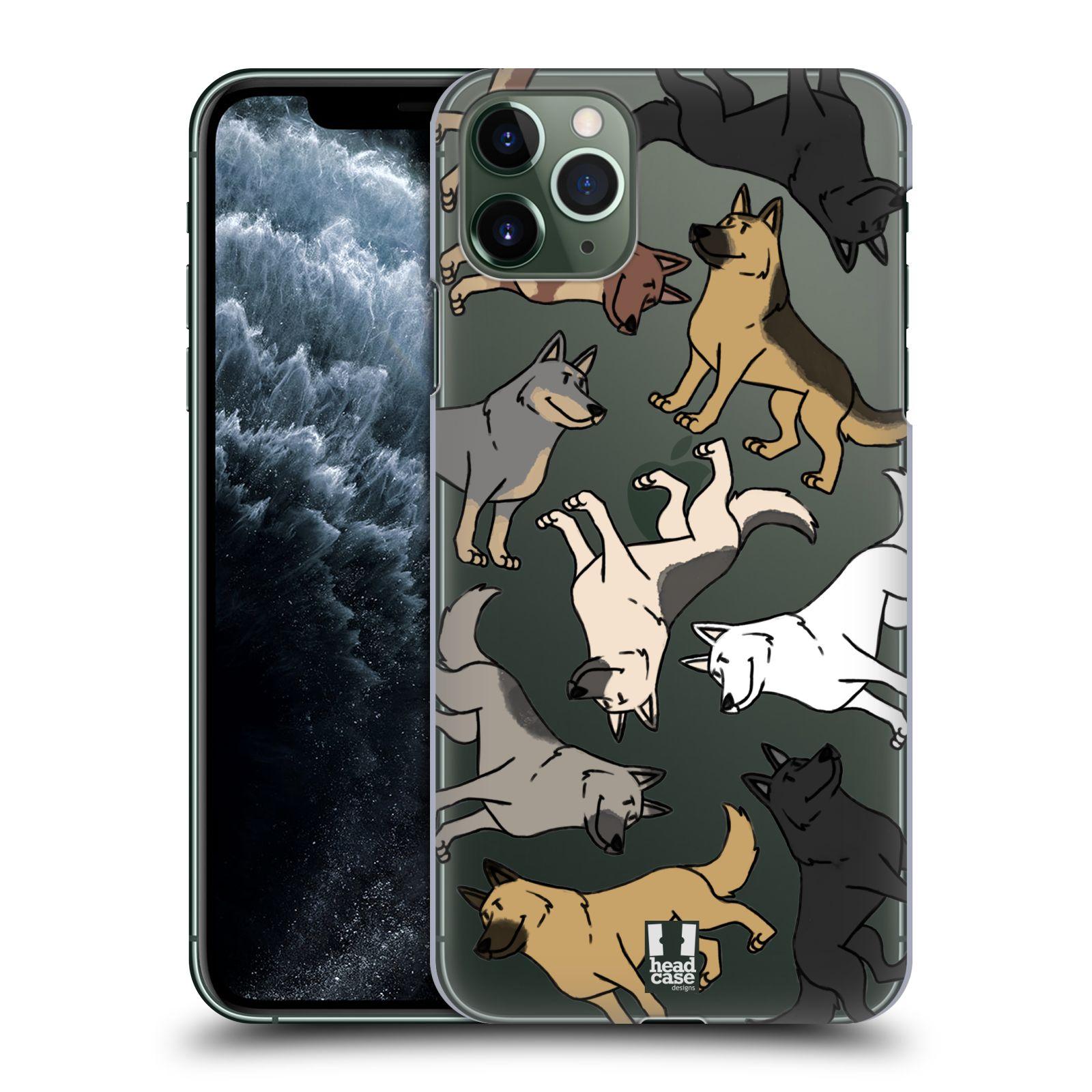 Pouzdro na mobil Apple Iphone 11 PRO MAX - HEAD CASE - pejsek Německý Ovčák