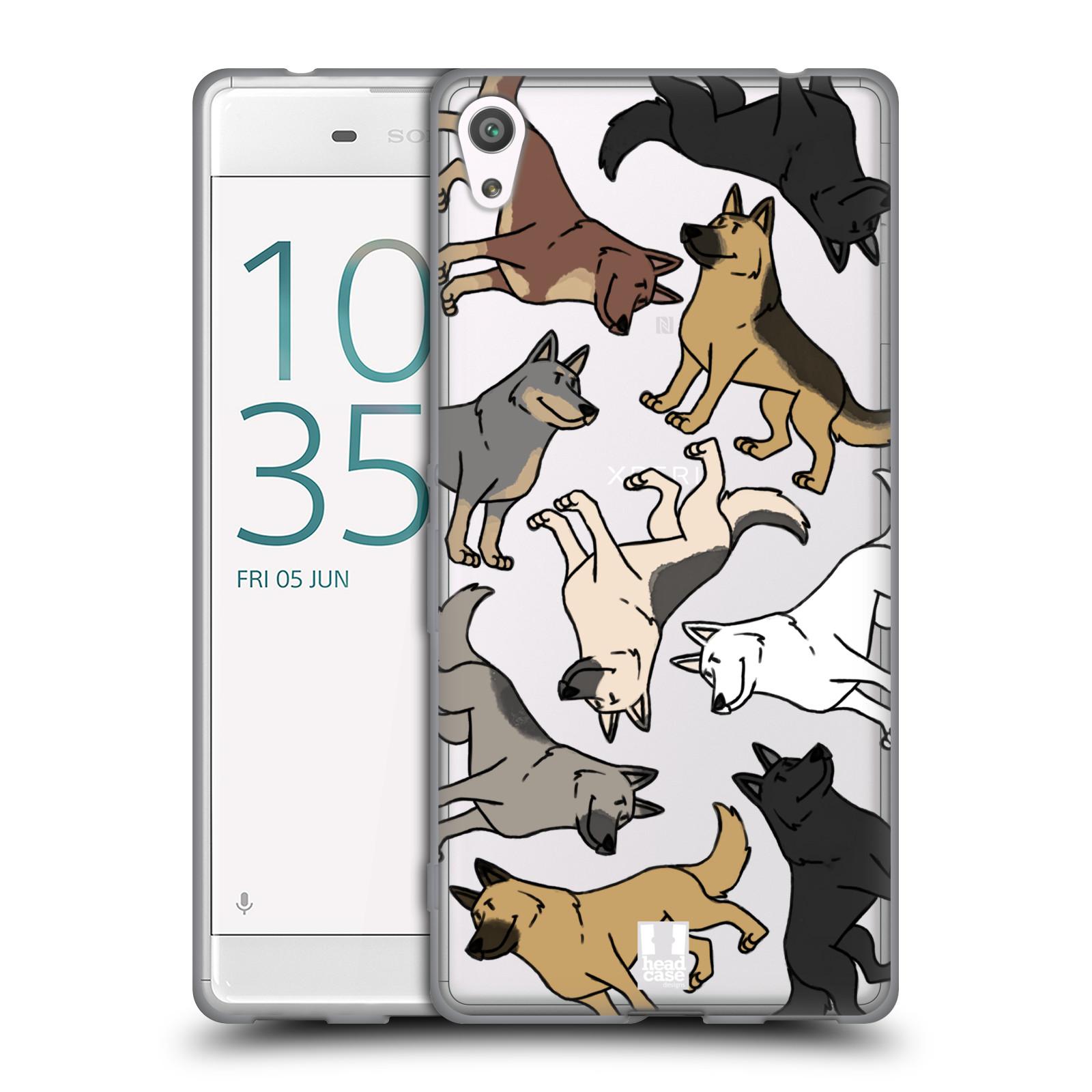 HEAD CASE silikonový obal na mobil Sony Xperia XA ULTRA pejsek Německý Ovčák
