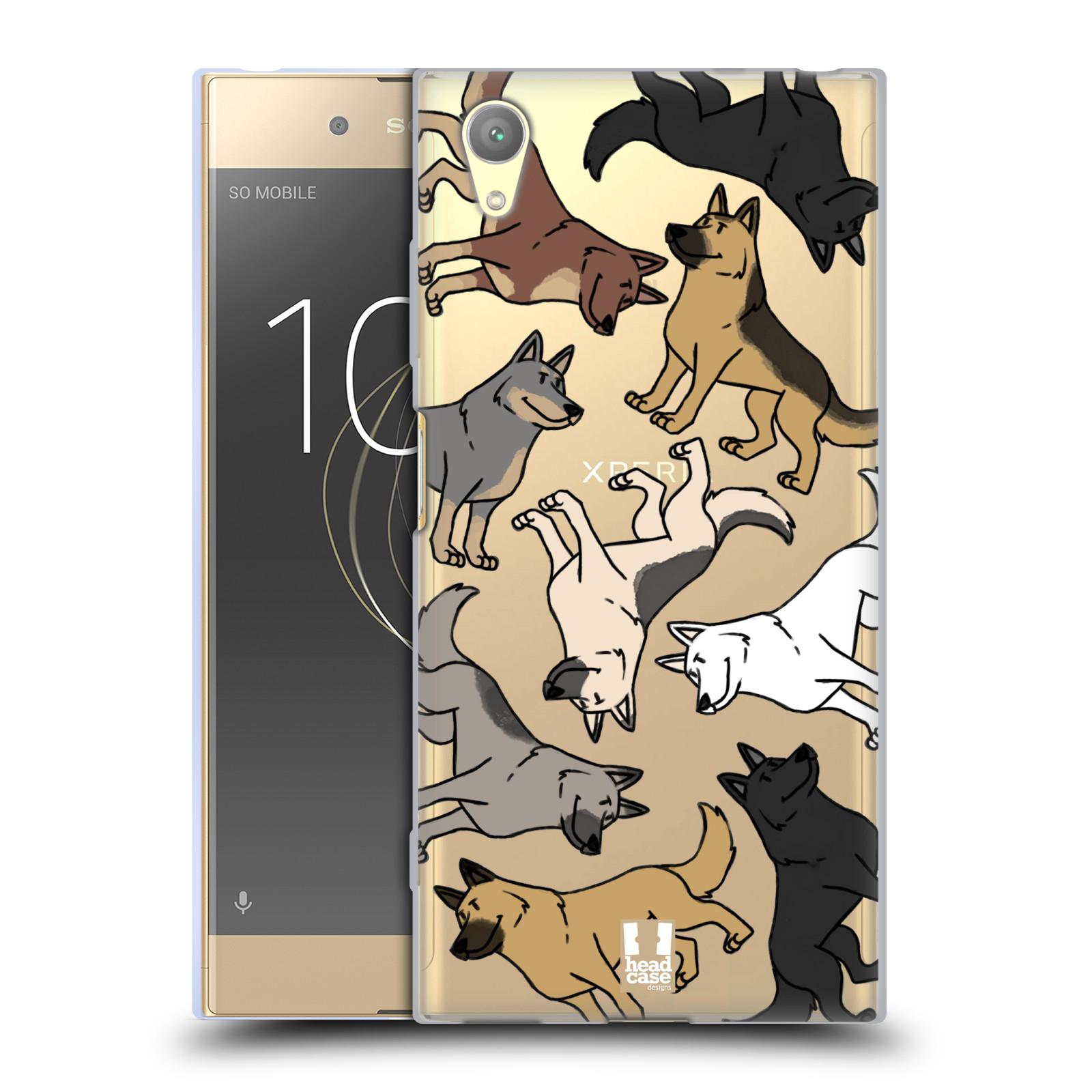 HEAD CASE silikonový obal na mobil Sony Xperia XA1 PLUS pejsek Německý Ovčák