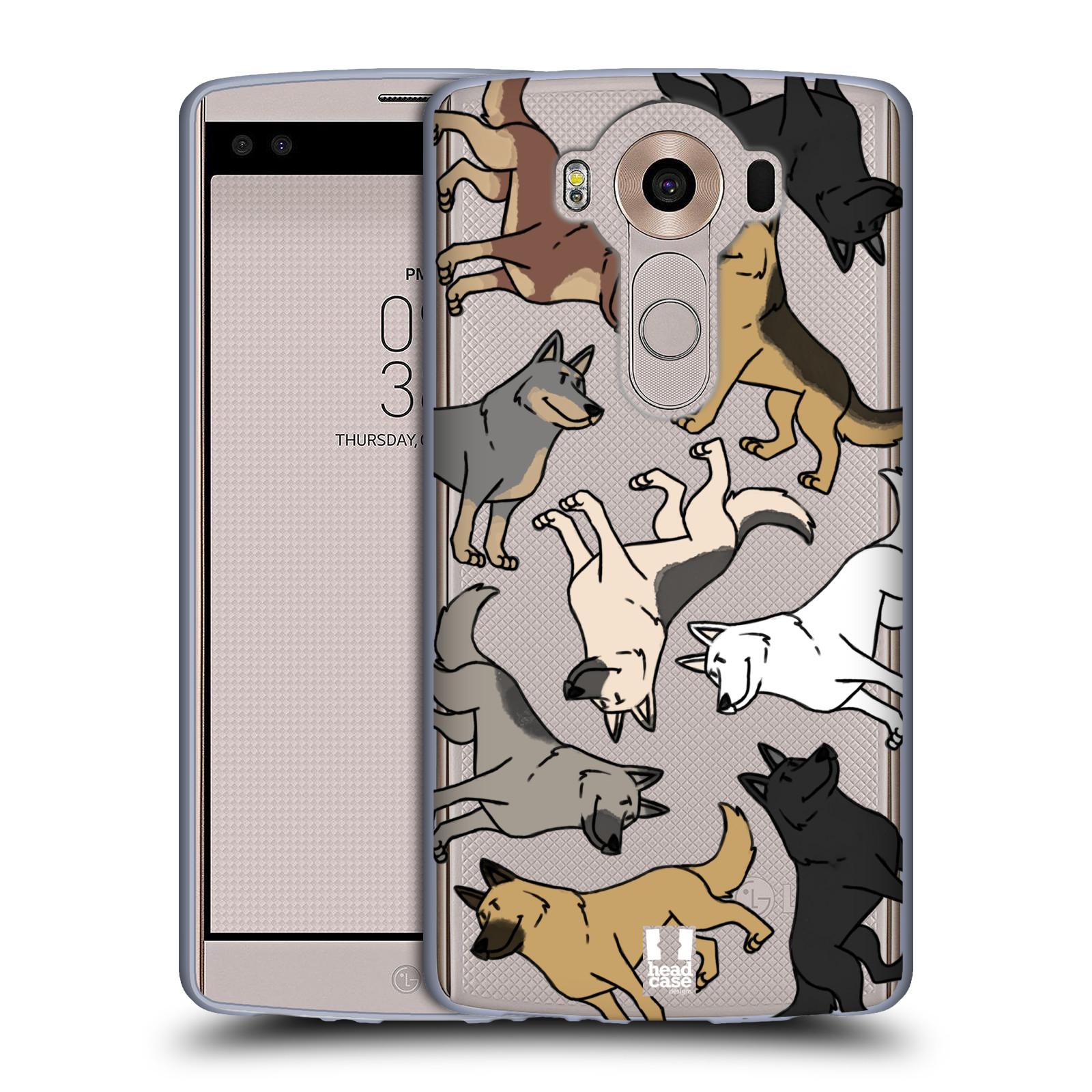 HEAD CASE silikonový obal na mobil LG V10 pejsek Německý Ovčák