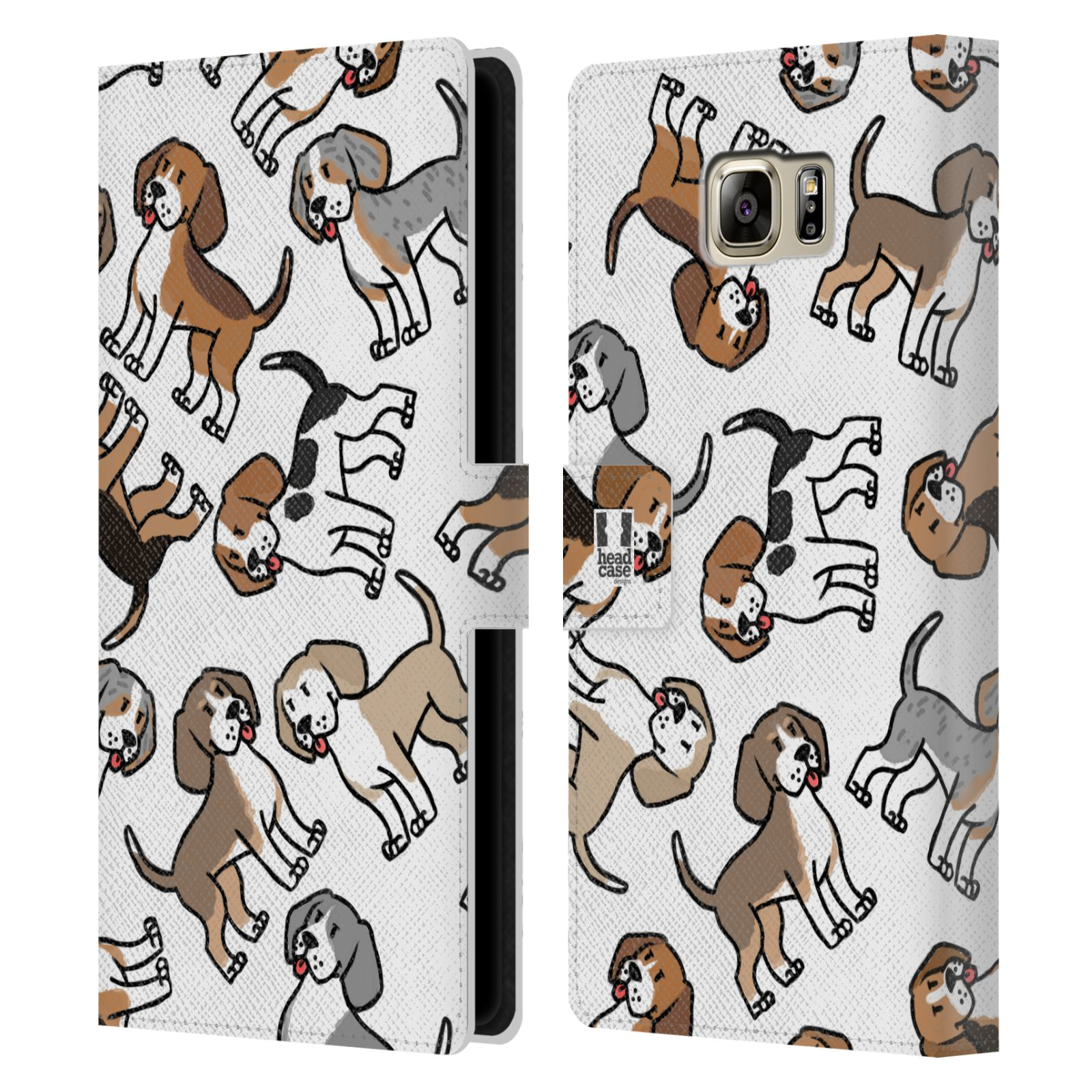 Pouzdro na mobil Samsung Galaxy NOTE 5 - Head Case - pejsek Bígl