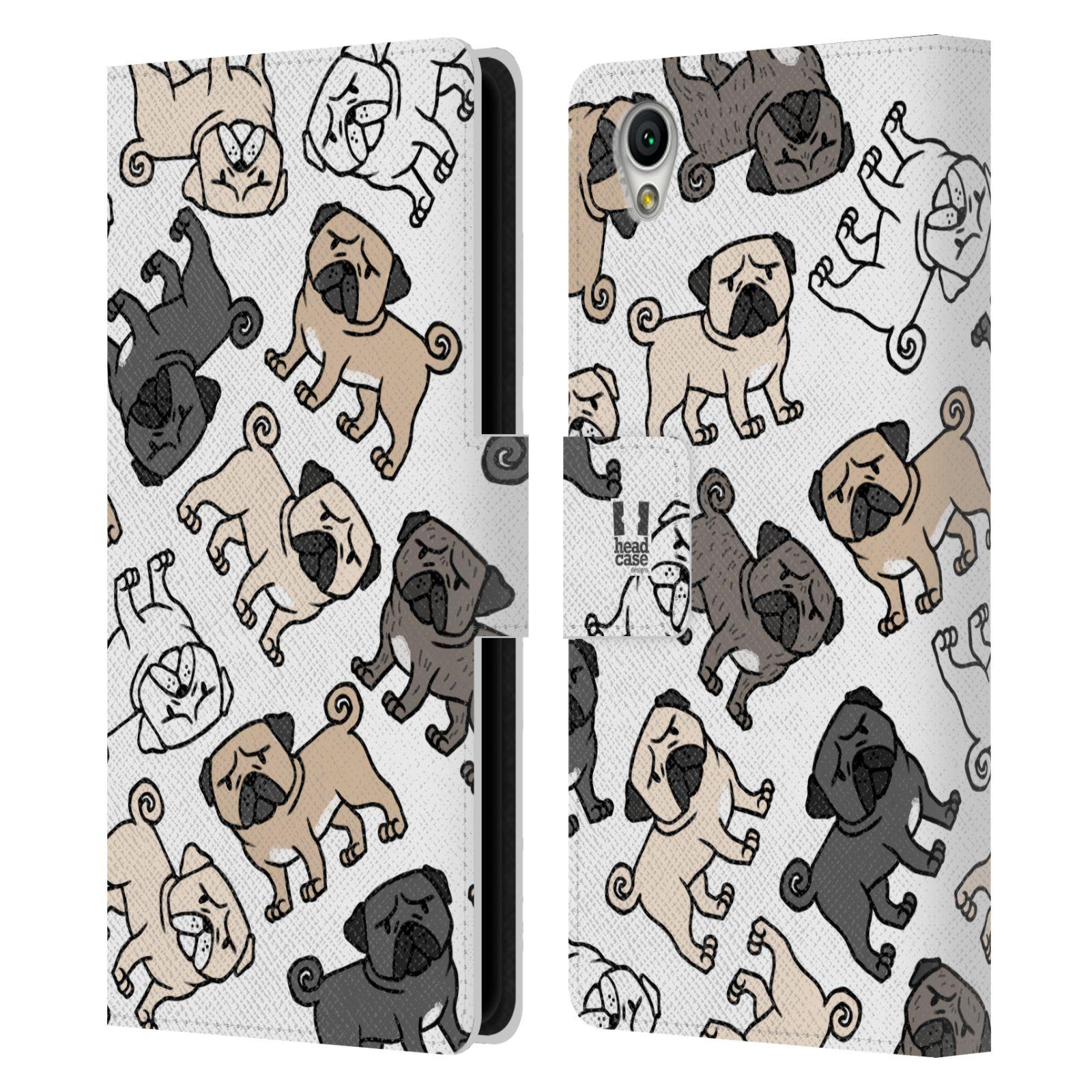 Pouzdro na mobil Sony Xperia L1 - Head Case - pejsek Mops