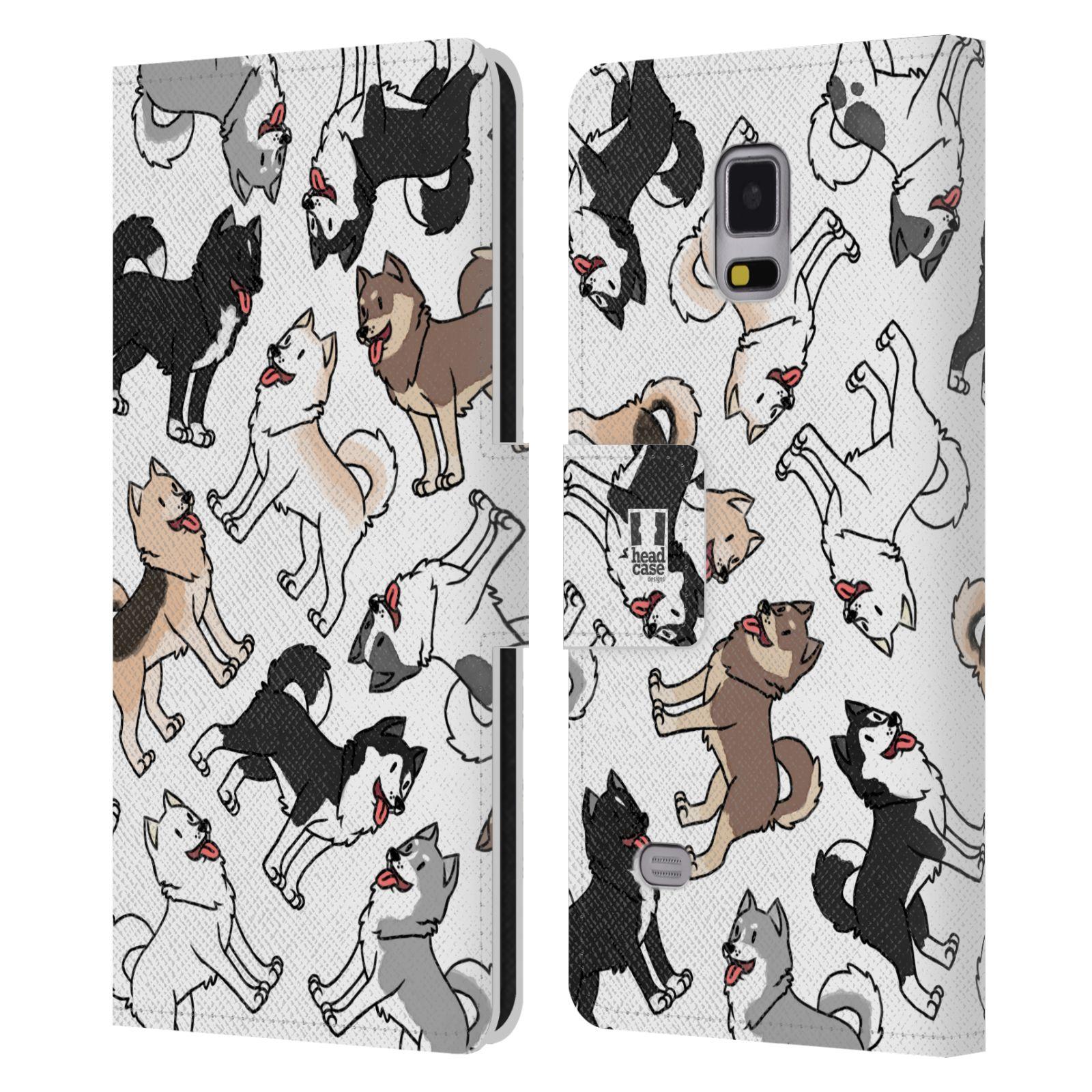 Pouzdro na mobil Samsung Galaxy NOTE 4 - Head Case - pejsek Sibiřský husky