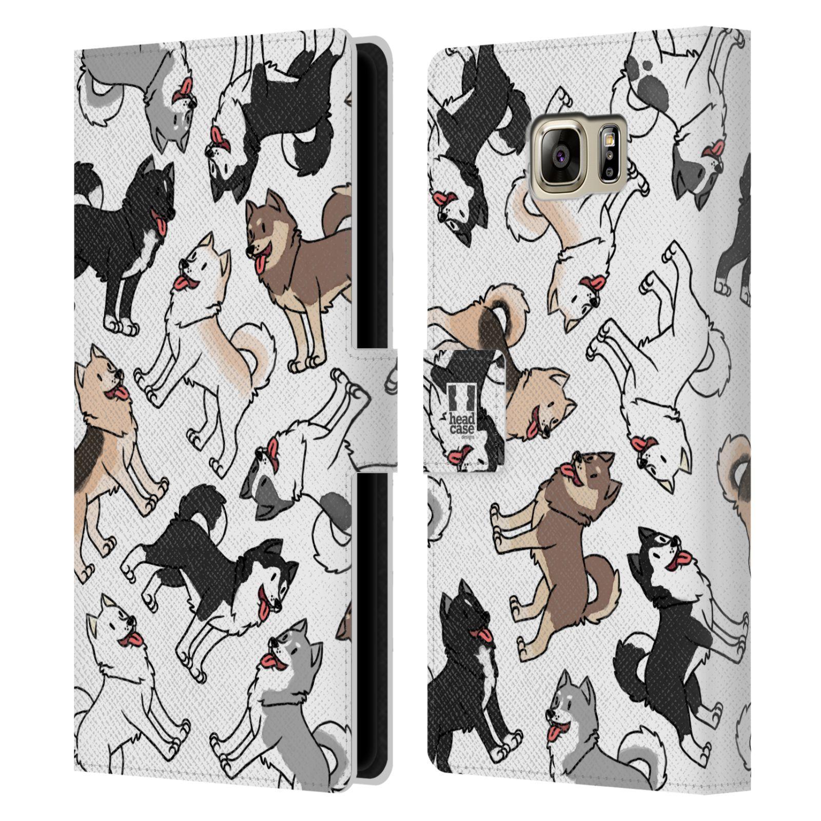 Pouzdro na mobil Samsung Galaxy NOTE 5 - Head Case - pejsek Sibiřský husky