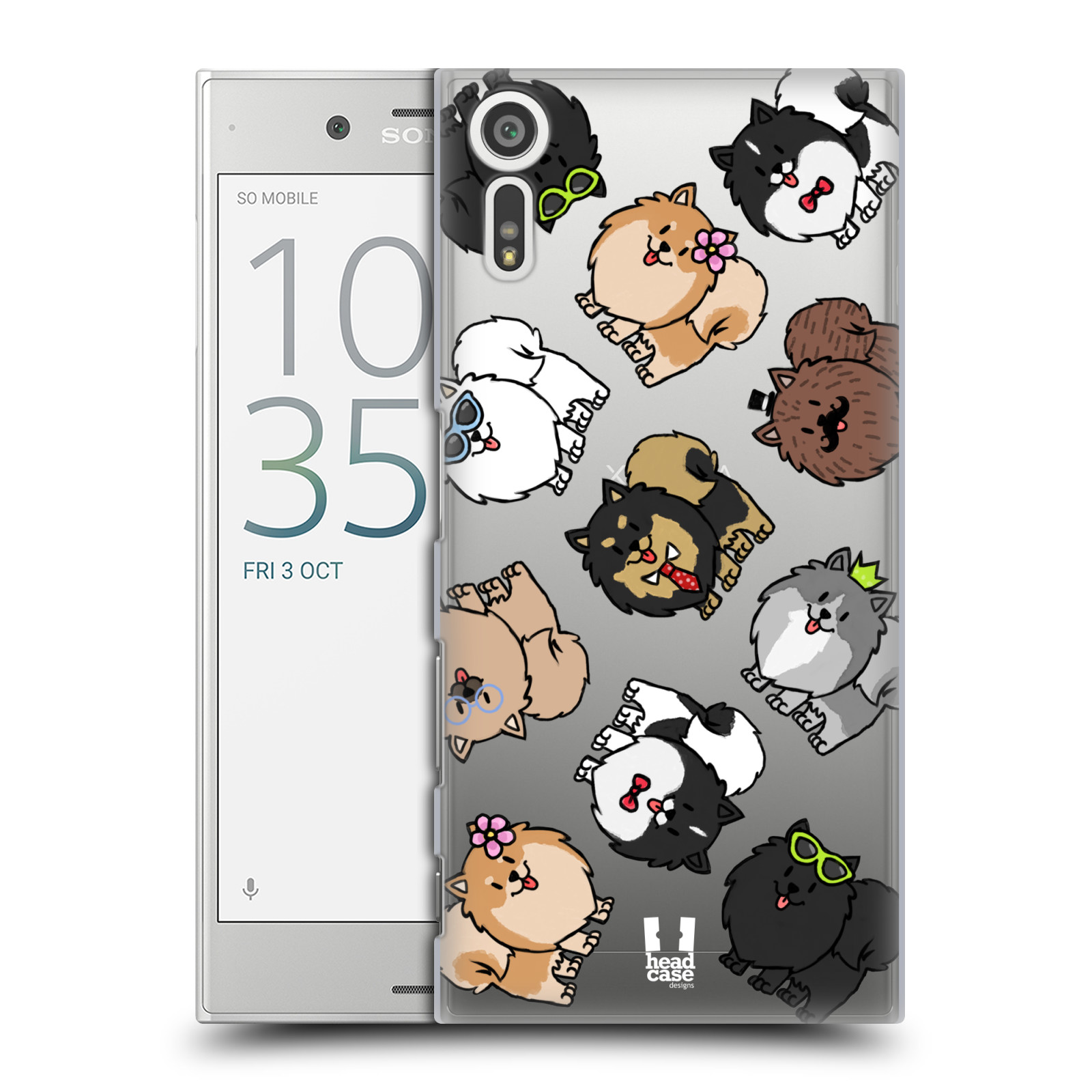 HEAD CASE plastový obal na mobil Sony Xperia XZ pejsek Pomeranian