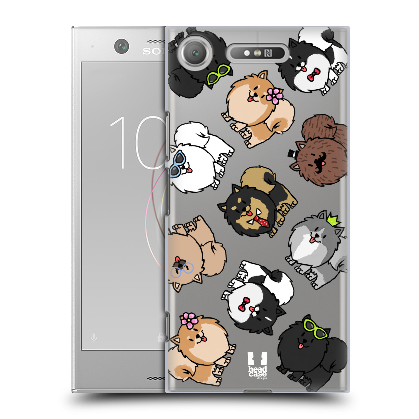 HEAD CASE plastový obal na mobil Sony Xperia XZ1 pejsek Pomeranian