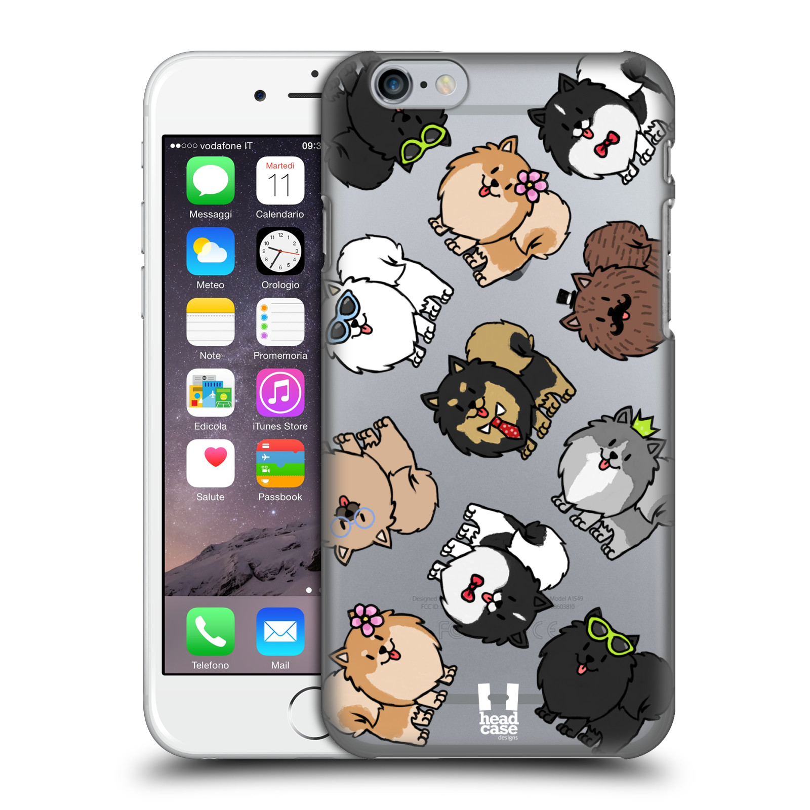 Plastové pouzdro pro mobil Apple Iphone 6/6S pejsek Pomeranian