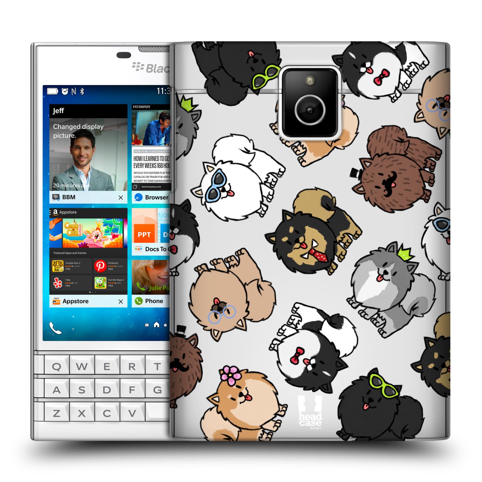 HEAD CASE plastový obal na mobil BlackBerry Passport pejsek Pomeranian