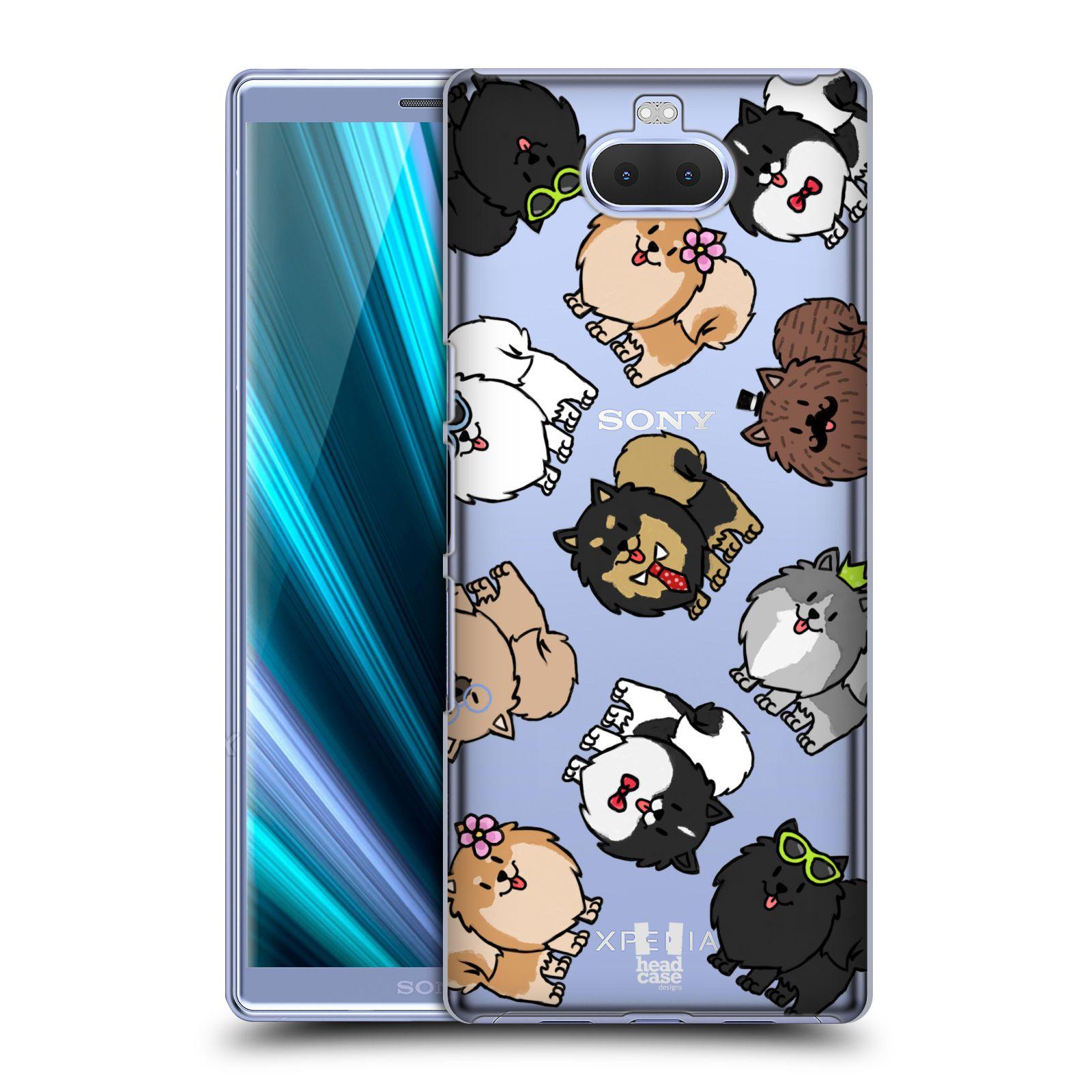 Pouzdro na mobil Sony Xperia 10 - Head Case - pejsek Pomeranian