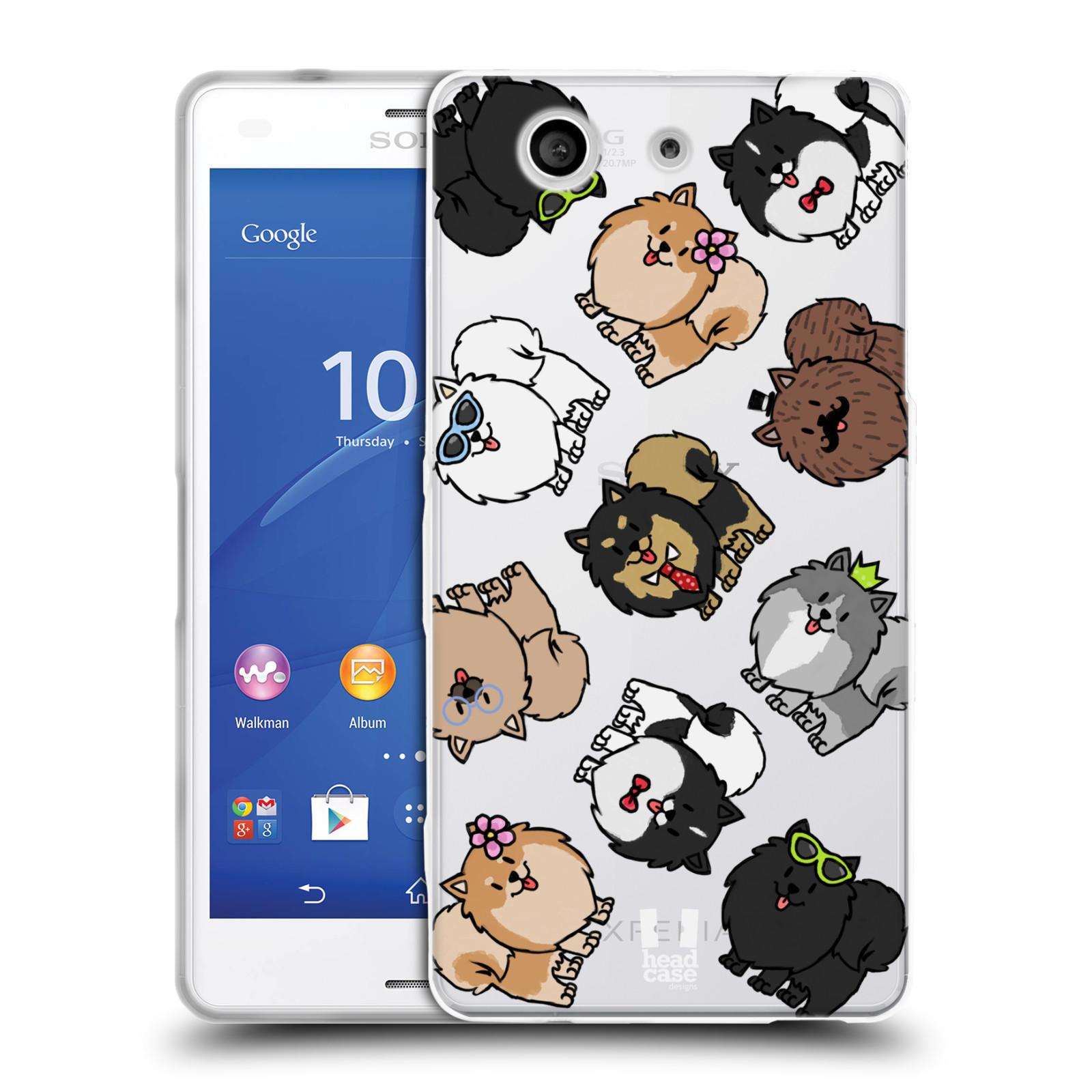 HEAD CASE silikonový obal na mobil Sony Xperia Z3 COMPACT pejsek Pomeranian