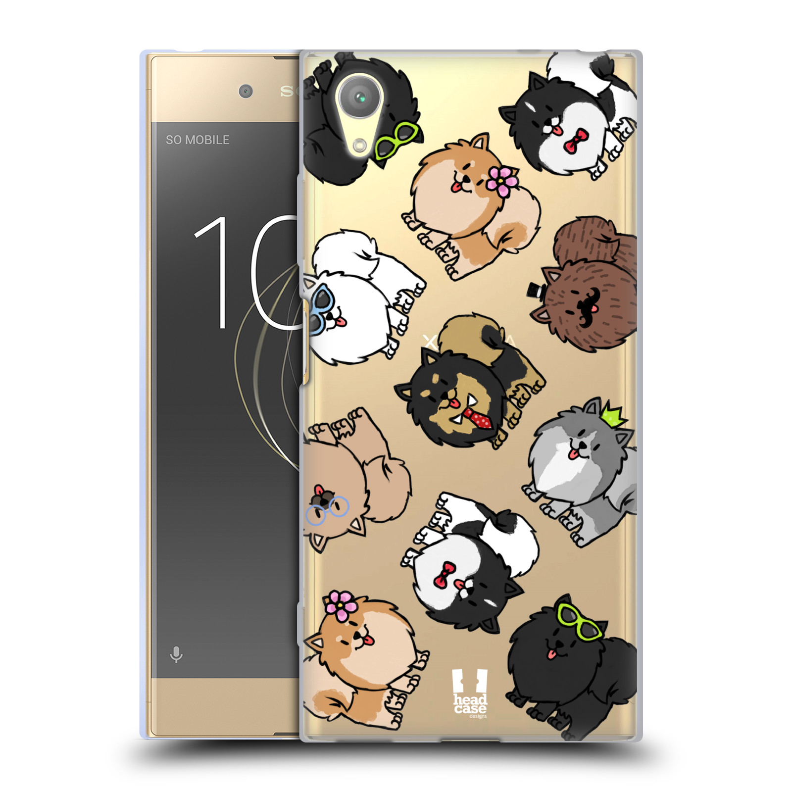 HEAD CASE silikonový obal na mobil Sony Xperia XA1 PLUS pejsek Pomeranian