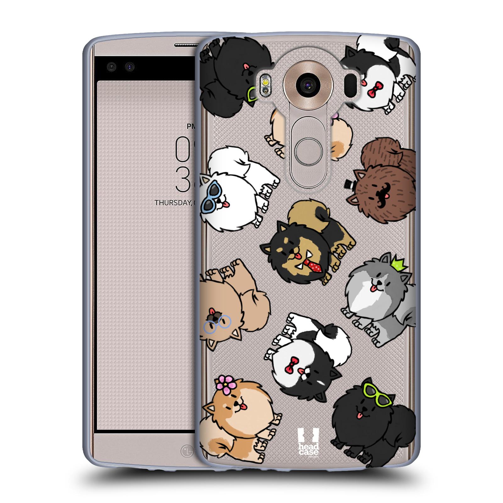 HEAD CASE silikonový obal na mobil LG V10 pejsek Pomeranian
