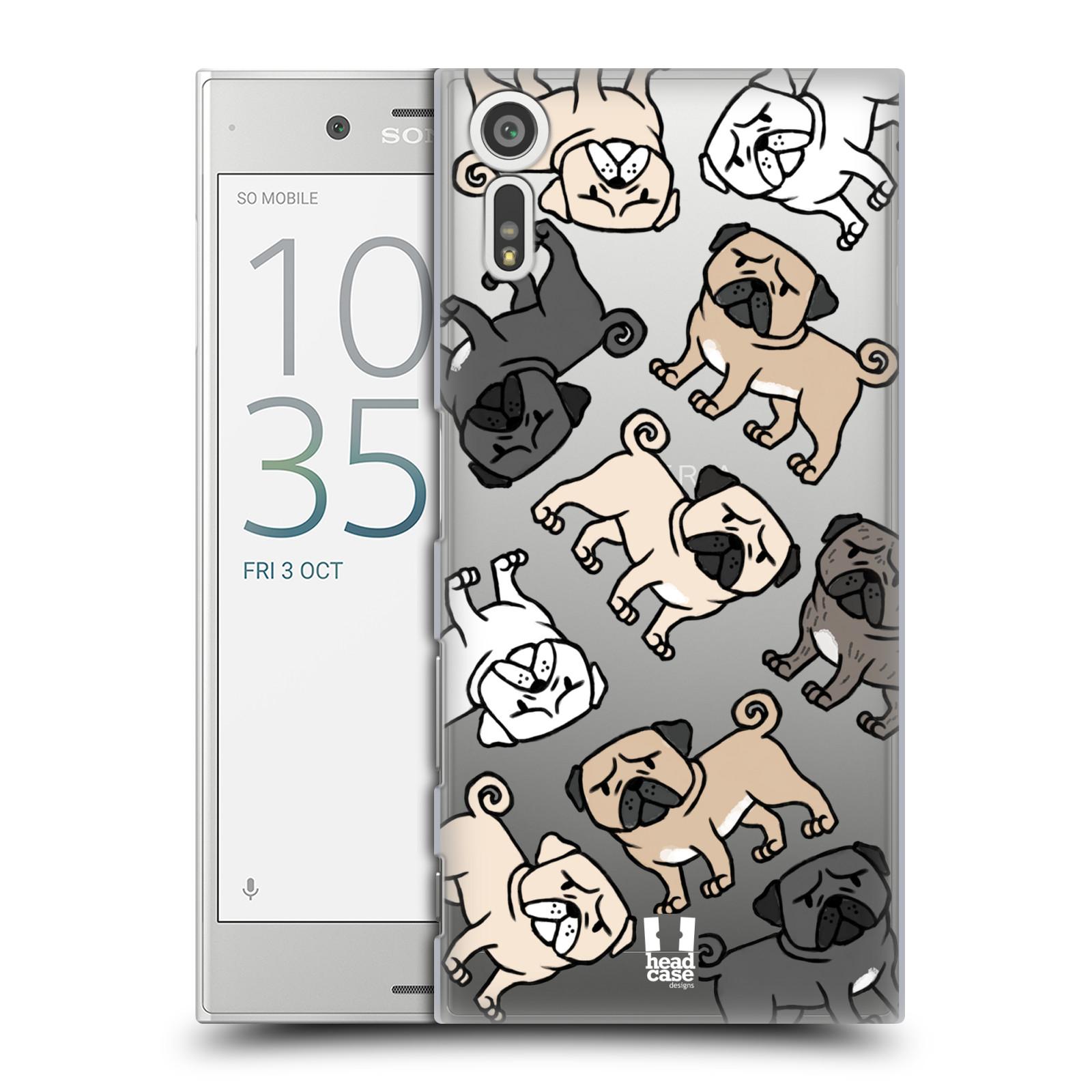 HEAD CASE plastový obal na mobil Sony Xperia XZ pejsek Pug Mopsík