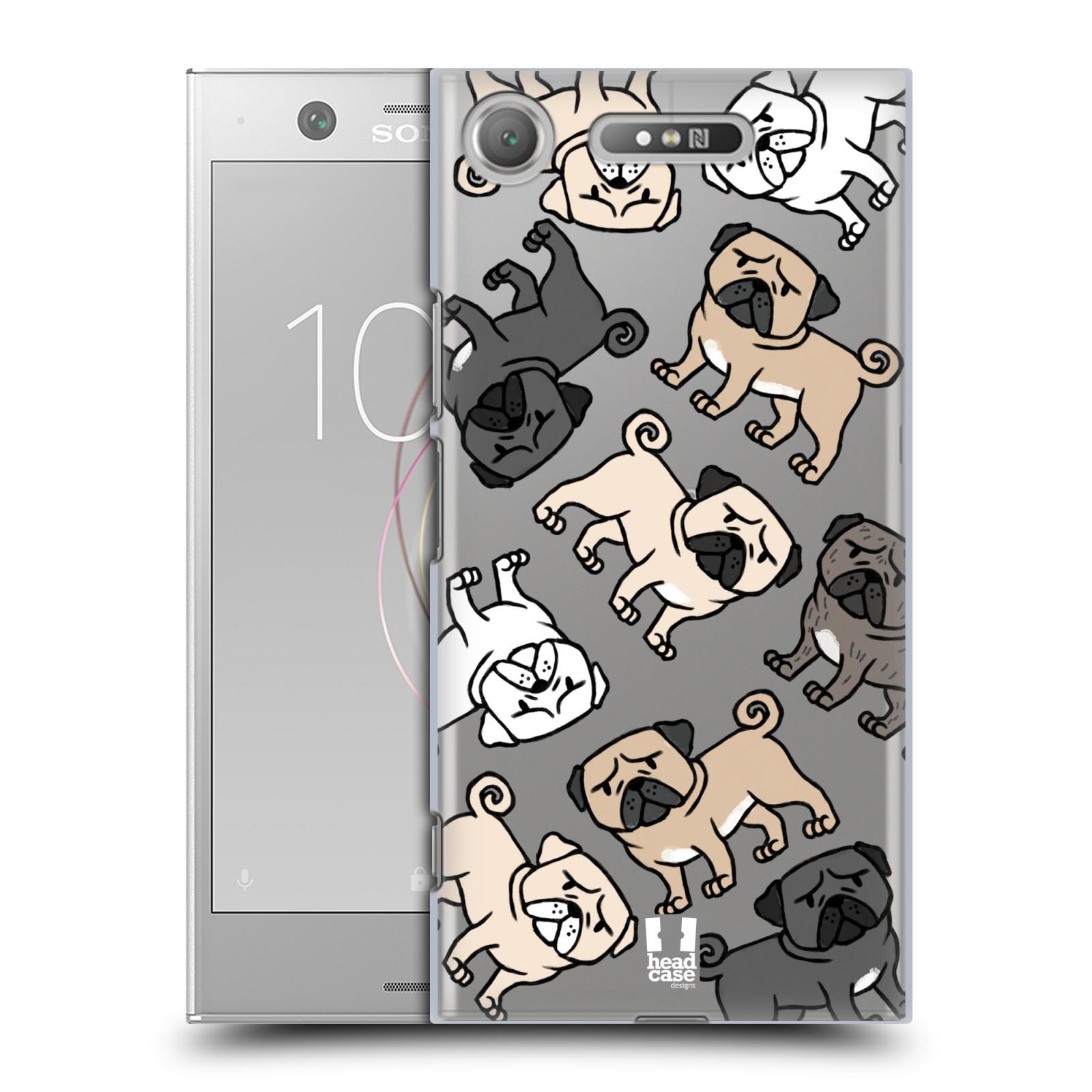 HEAD CASE plastový obal na mobil Sony Xperia XZ1 pejsek Pug Mopsík