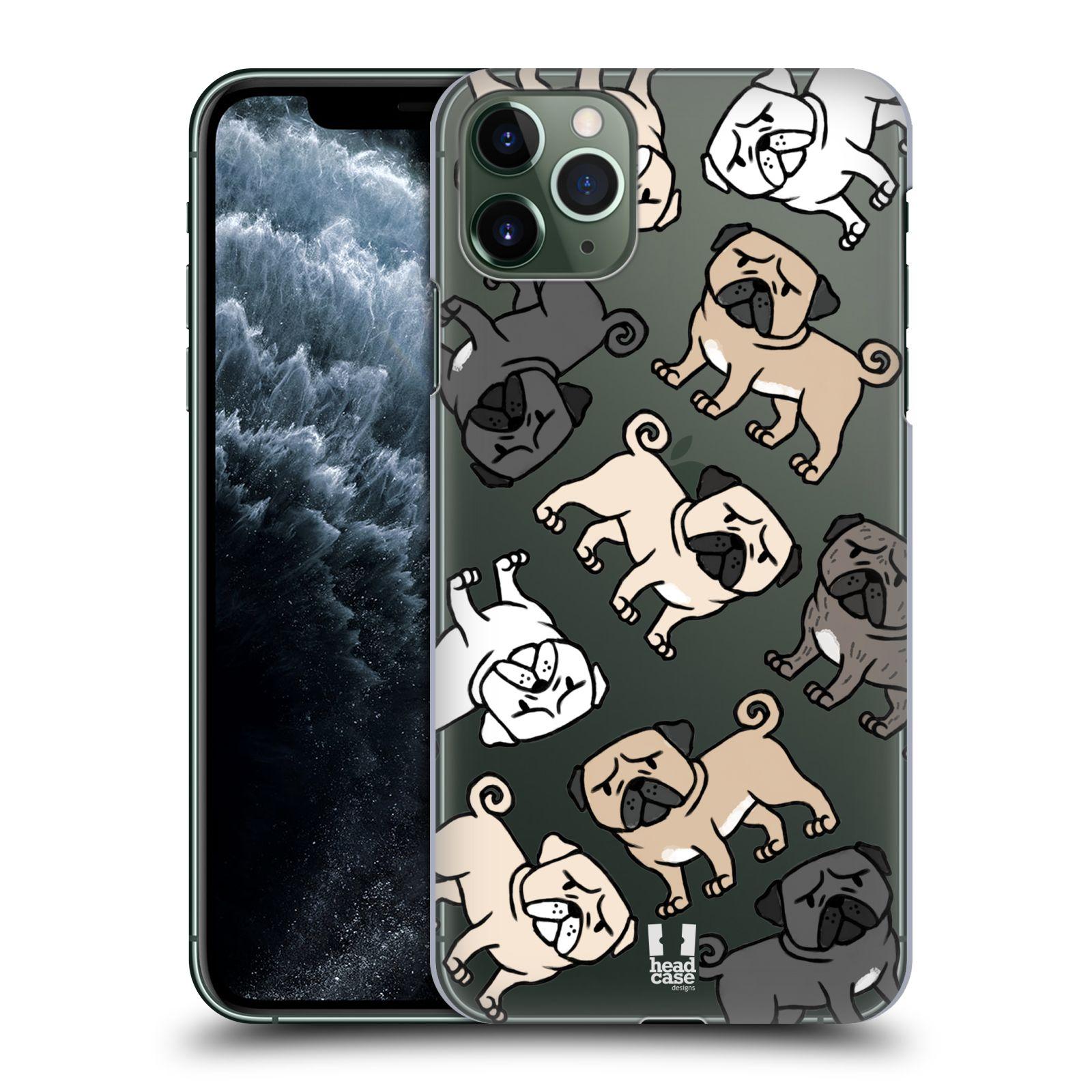 Pouzdro na mobil Apple Iphone 11 PRO MAX - HEAD CASE - pejsek Pug Mopsík