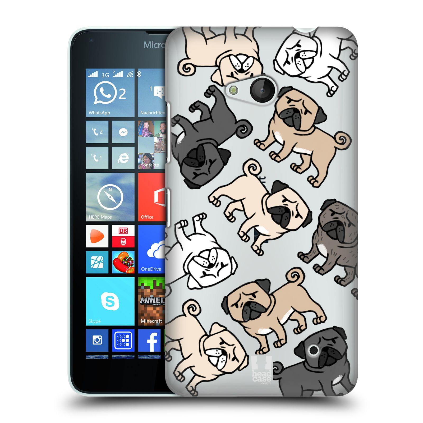 HEAD CASE plastový obal na mobil Nokia Lumia 640 pejsek Pug Mopsík