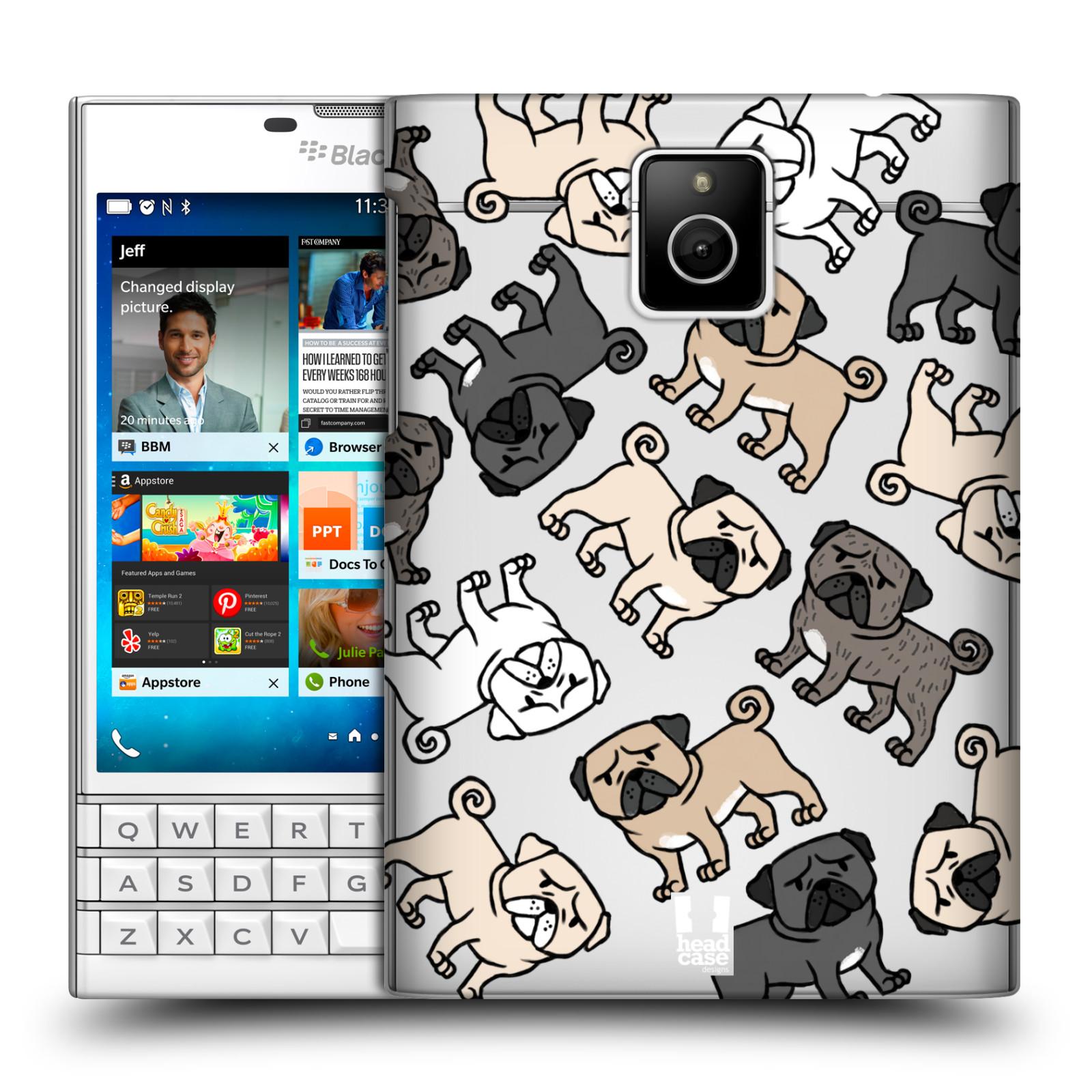 HEAD CASE plastový obal na mobil BlackBerry Passport pejsek Pug Mopsík