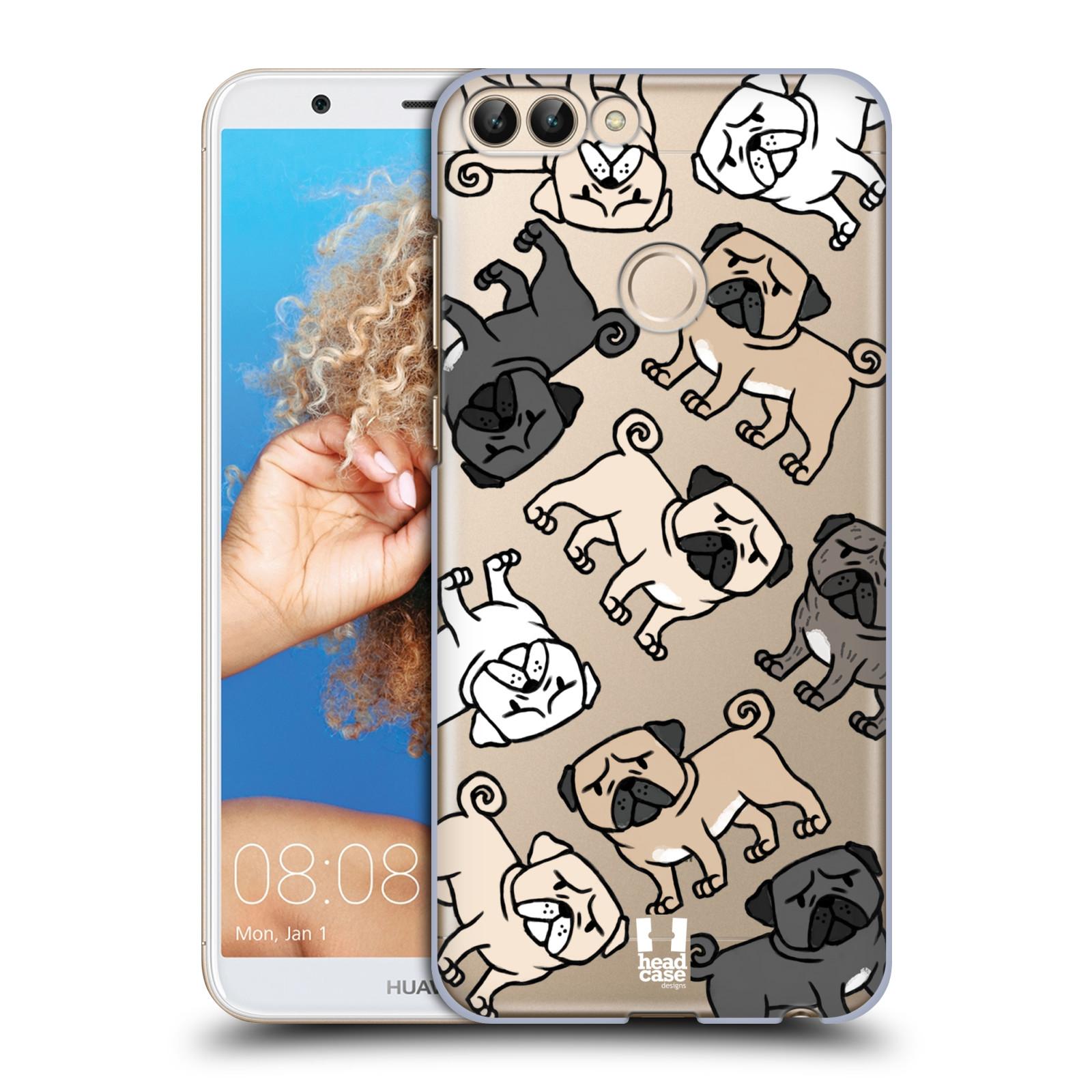 HEAD CASE plastový obal na mobil Huawei P Smart pejsek Pug Mopsík